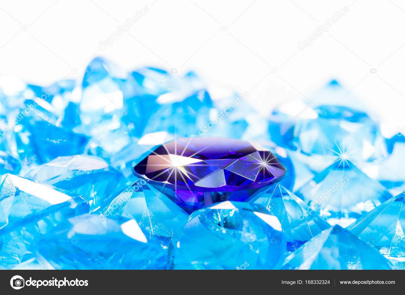 Blue Diamond On White Background Stock Photo C Thaisign