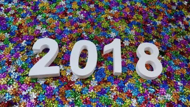 év 2018-színes virágok glitter.flowers csillogó flow-kellemes karácsonyi ünnepeket és boldog új évet 2018.