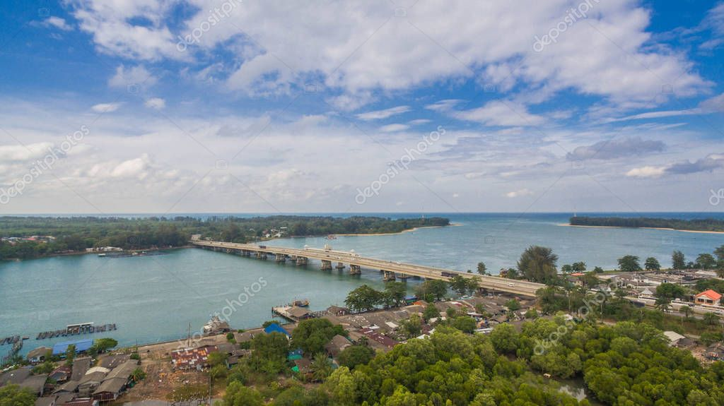 Sarasin bridge linking the province of Phang Nga and Phuket. the bridge is the most important in making businesses. From the provinces to Phuket has traded a lot of money and most important for travel