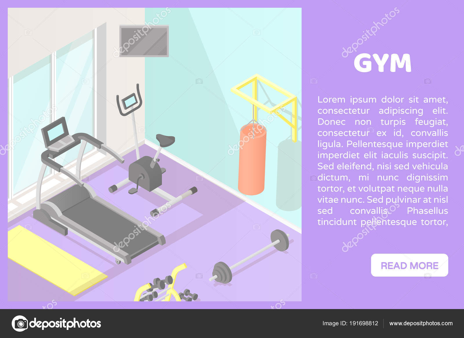 People go in for sports in the fitness club vector illustration