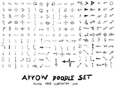 Hand drawn arrows set stock vector