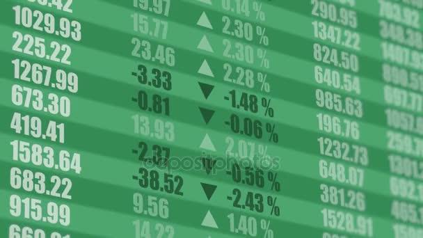 Stock market ticker. Financial background. 4K