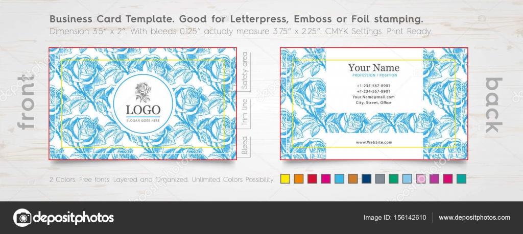 Designer Visitenkarten Design Vorlage Gravierte Rose