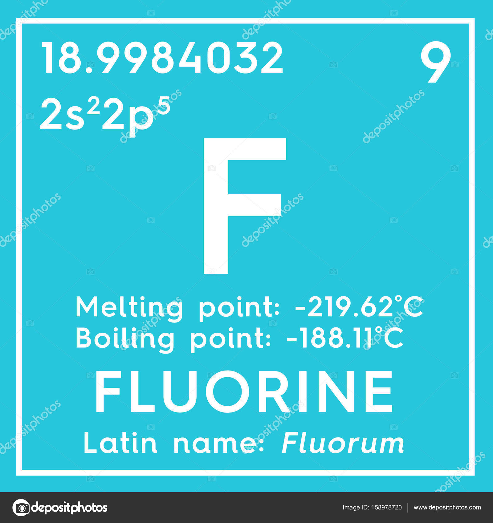 Fluorine halogens chemical element of mendeleevs periodic table fluorine halogens chemical element of mendeleevs periodic table fluorine in square cube creative concept photo by sanches812 urtaz Gallery