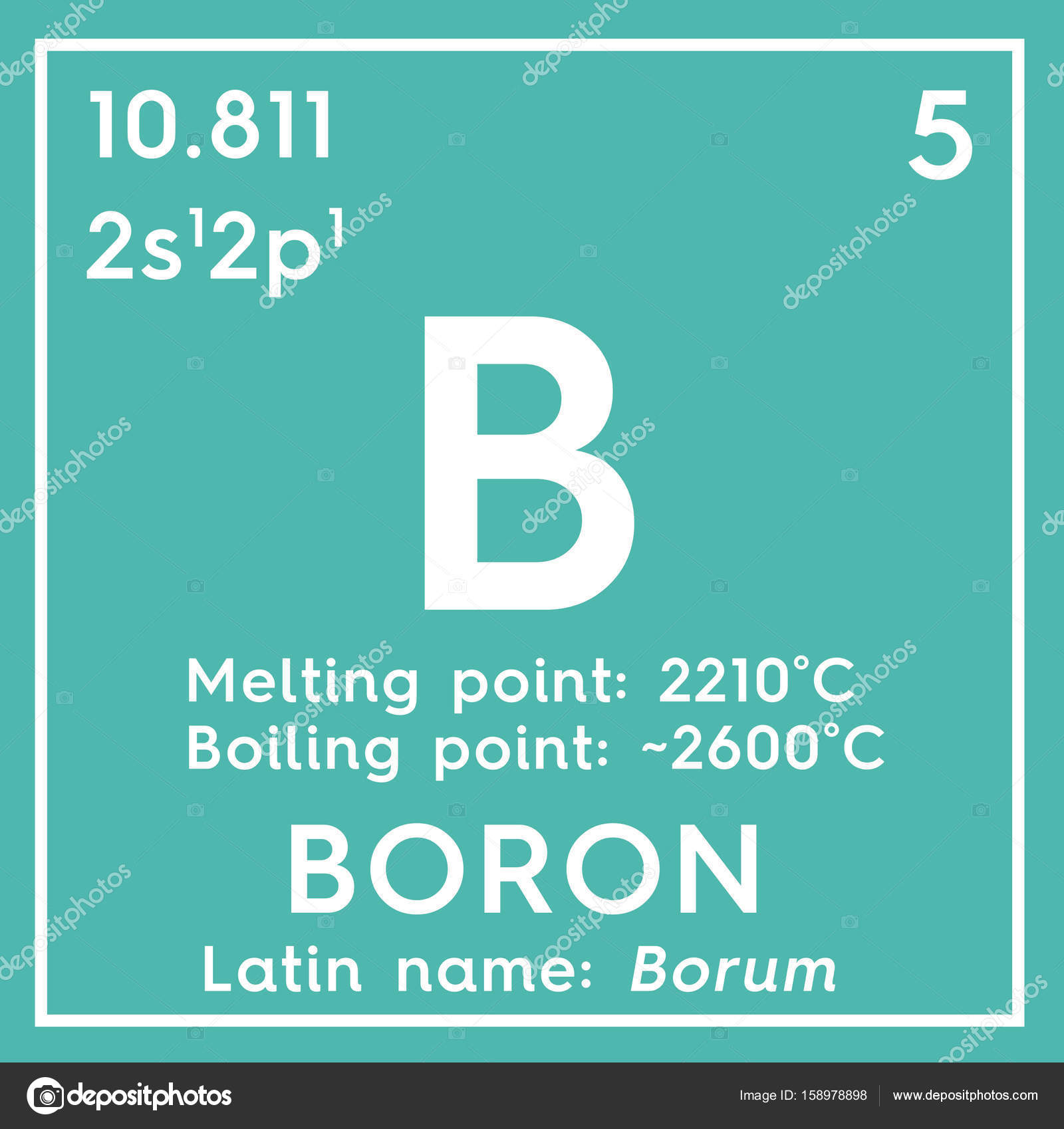 Boron Metalloids Chemical Element Of Mendeleevs Periodic Table