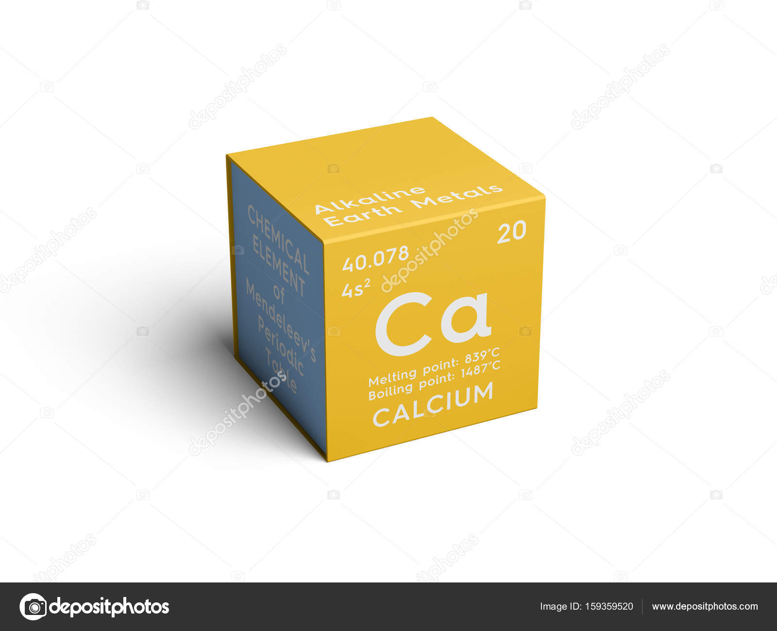 Calcium alkaline earth metals chemical element of mendeleevs alkaline earth metals chemical element of mendeleevs periodic table calcium in square cube creative concept photo by sanches812 urtaz Gallery