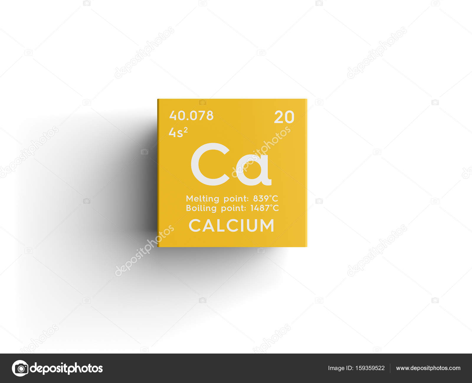 Calcium alkaline earth metals chemical element of mendeleevs alkaline earth metals chemical element of mendeleevs periodic table calcium in square cube creative concept photo by sanches812 urtaz Images