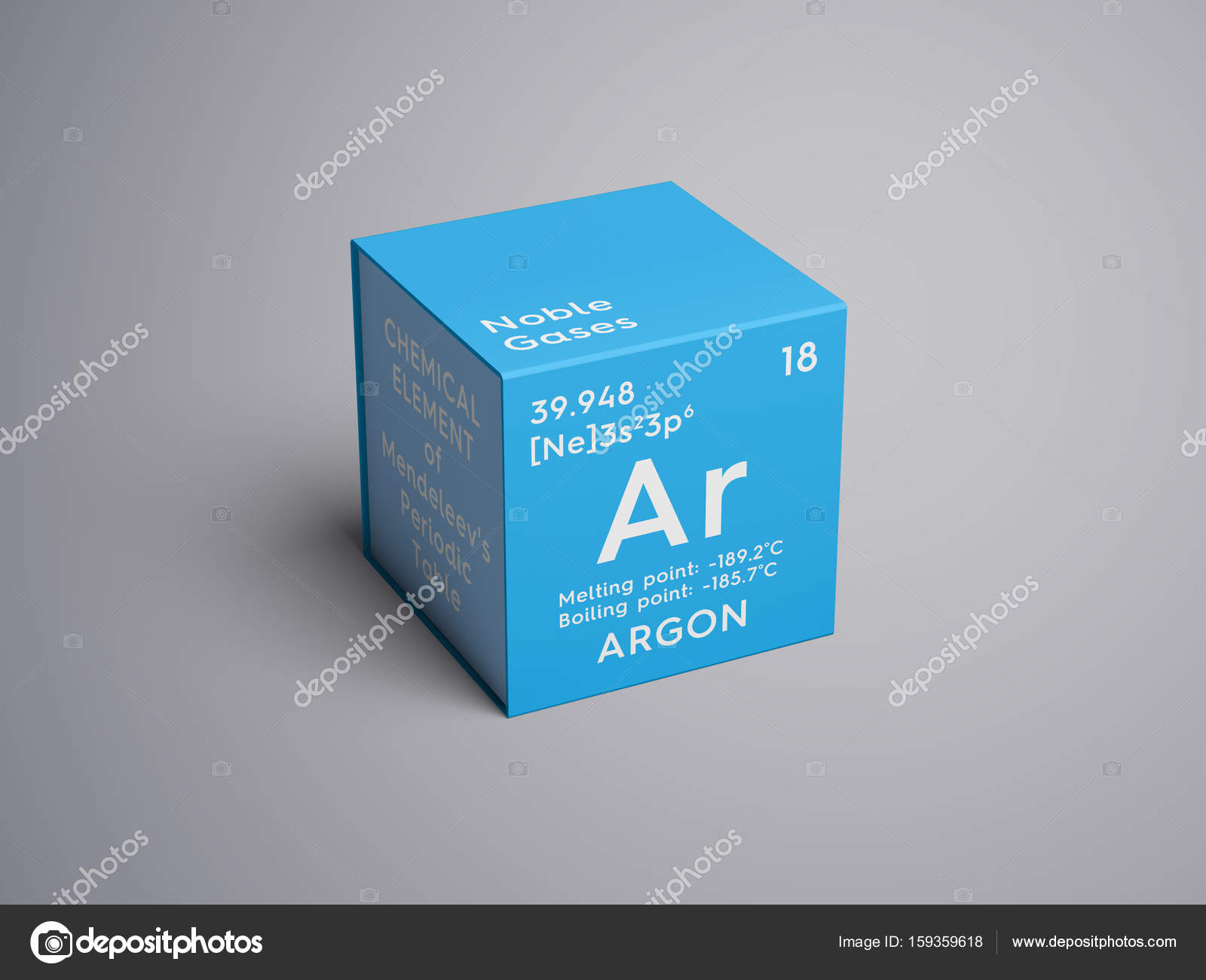Argon noble gases chemical element of mendeleevs periodic table argon noble gases chemical element of mendeleevs periodic table argon in square cube creative concept photo by sanches812 gamestrikefo Choice Image