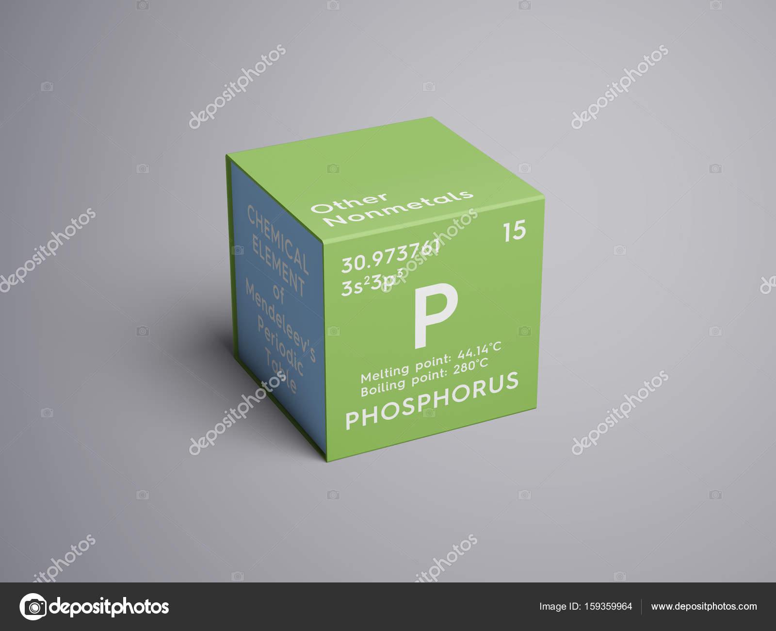 otros no metales elemento qumico de la tabla de periodica de mendeleiev fsforo en concepto creativo cubo cuadrado foto de sanches812 - Tabla Periodica Concepto De Metales