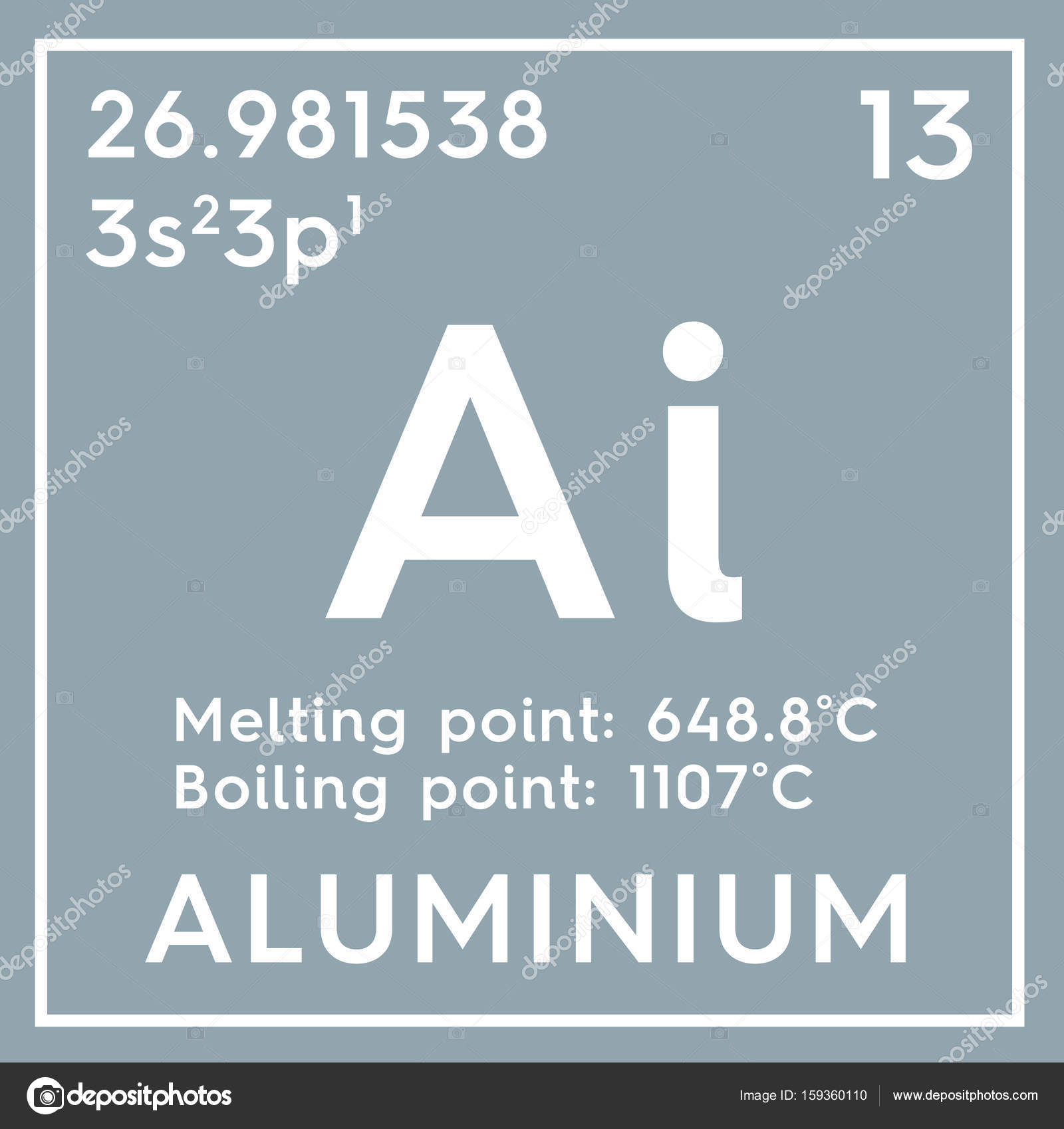 Aluminium post transition metals chemical element of mendeleevs aluminium post transition metals chemical element of mendeleevs periodic table aluminium in square cube creative concept photo by sanches812 urtaz Gallery