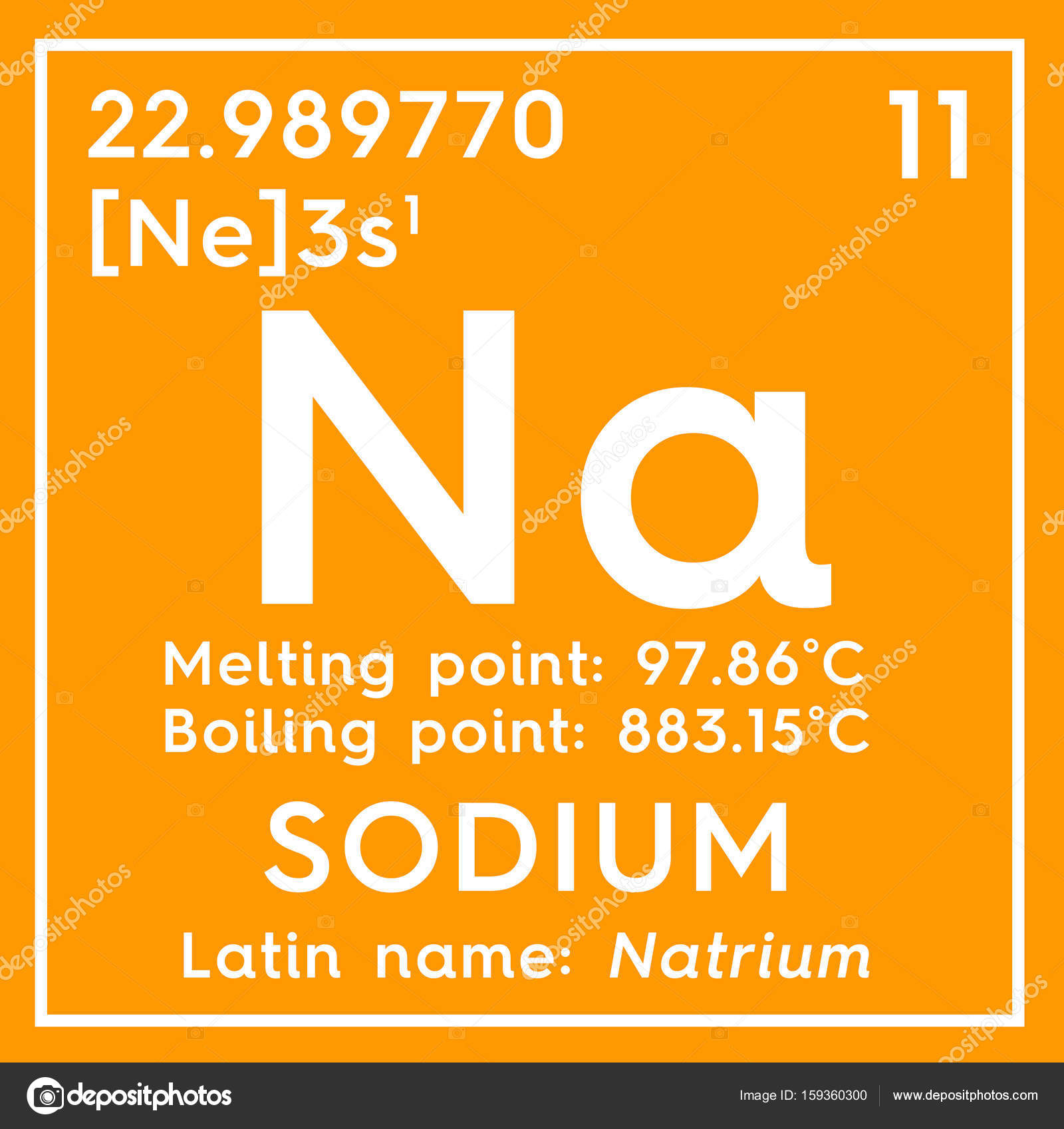 Sodium natrium alkali metals chemical element of mendeleevs chemical element of mendeleevs periodic table stock gamestrikefo Gallery