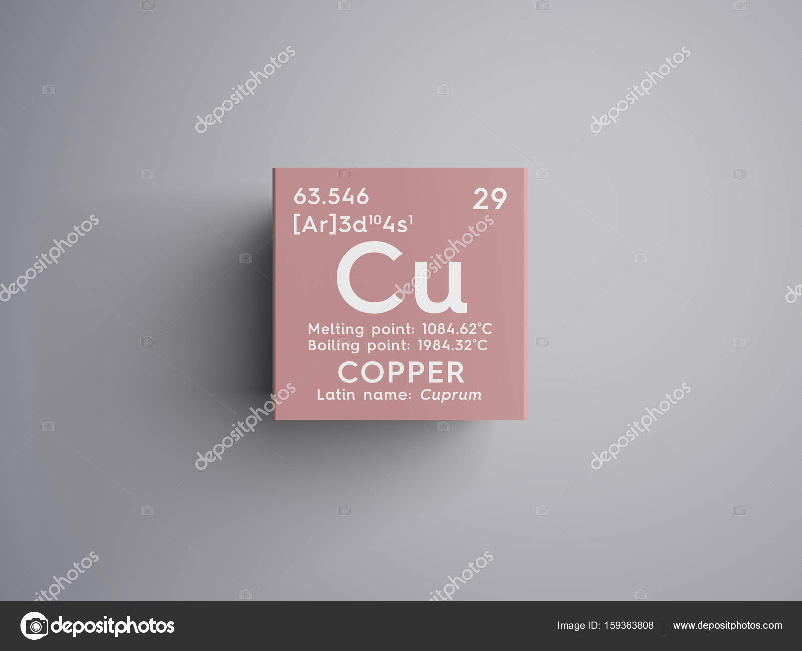 Copper cuprum transition metals chemical element of mendeleevs transition metals chemical element of mendeleevs periodic table copper in square cube creative concept photo by sanches812 urtaz Gallery