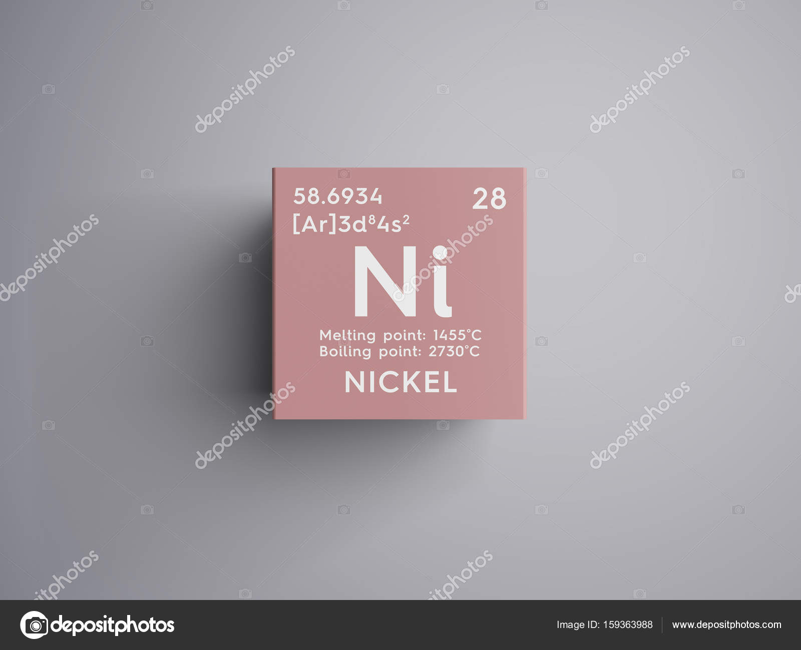 Nickel transition metals chemical element of mendeleevs periodic nickel transition metals chemical element of mendeleevs periodic table nickel in square cube creative concept photo by sanches812 buycottarizona Images