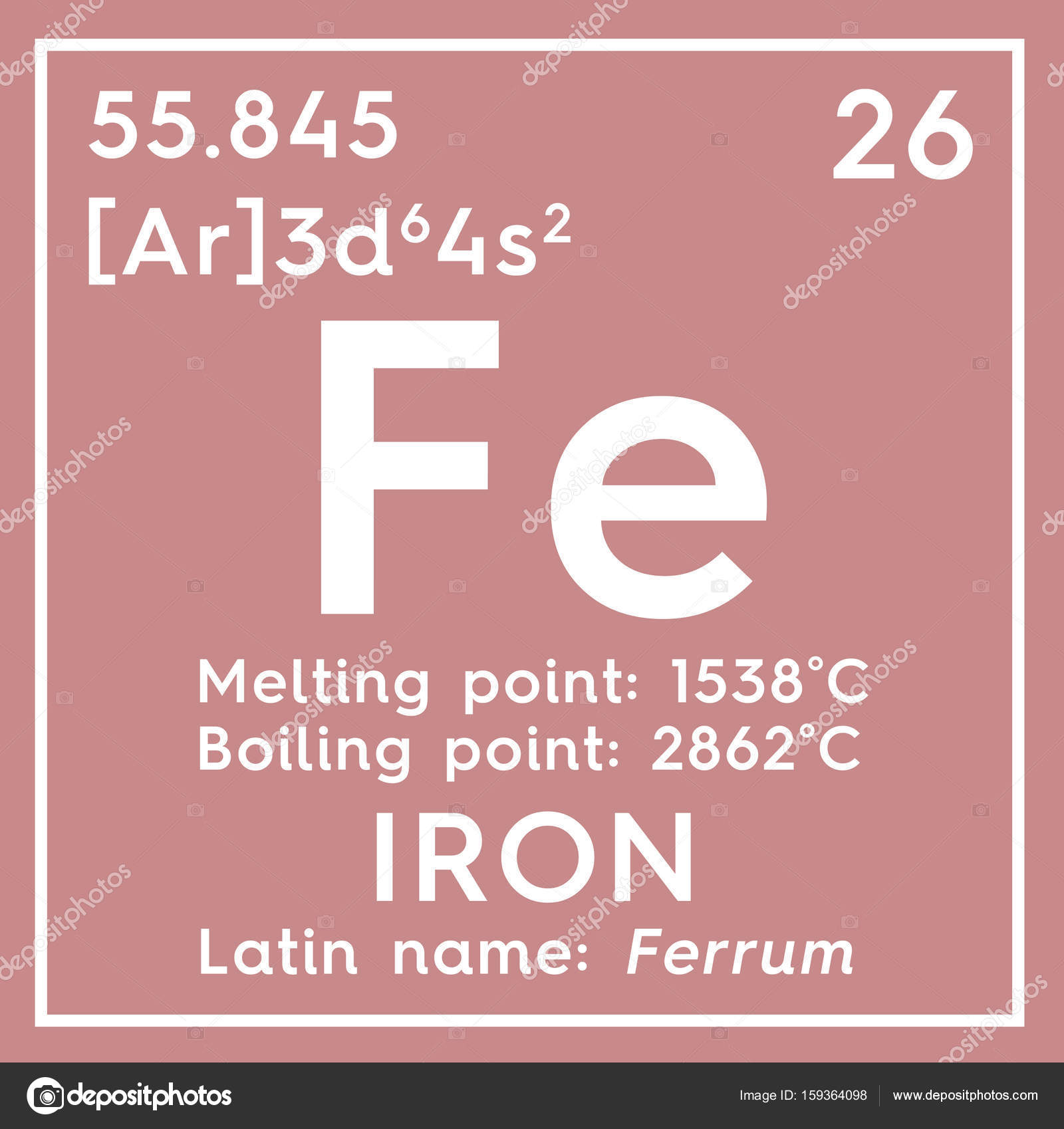 Iron ferrum transition metals chemical element of mendeleevs transition metals chemical element of mendeleevs periodic table stock urtaz Gallery