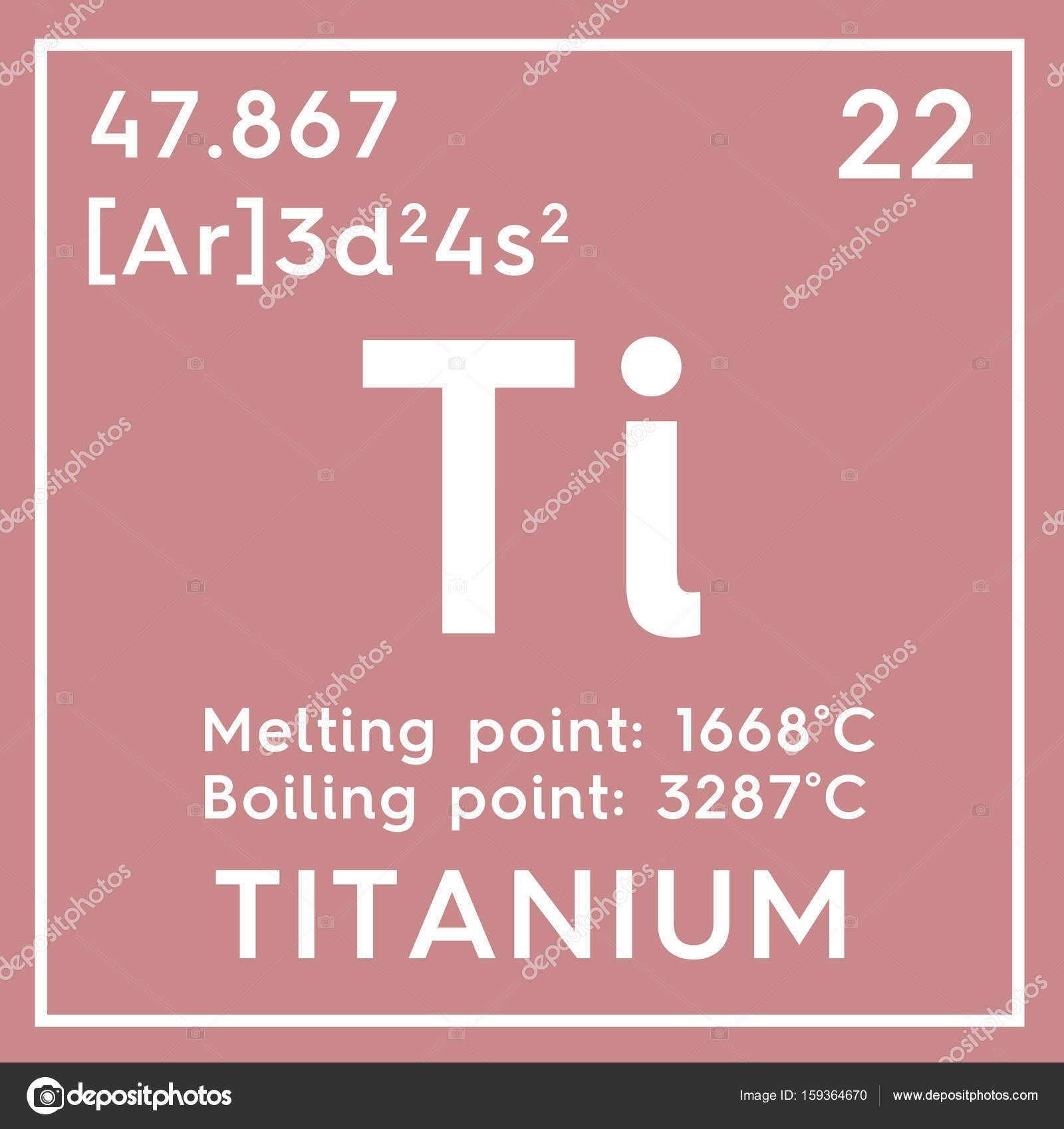 Titanium. Transition Metals. Chemical Element Of Mendeleevu0027s Periodic Table.  Titanium In Square Cube Creative Concept. U2014 Photo By Sanches812