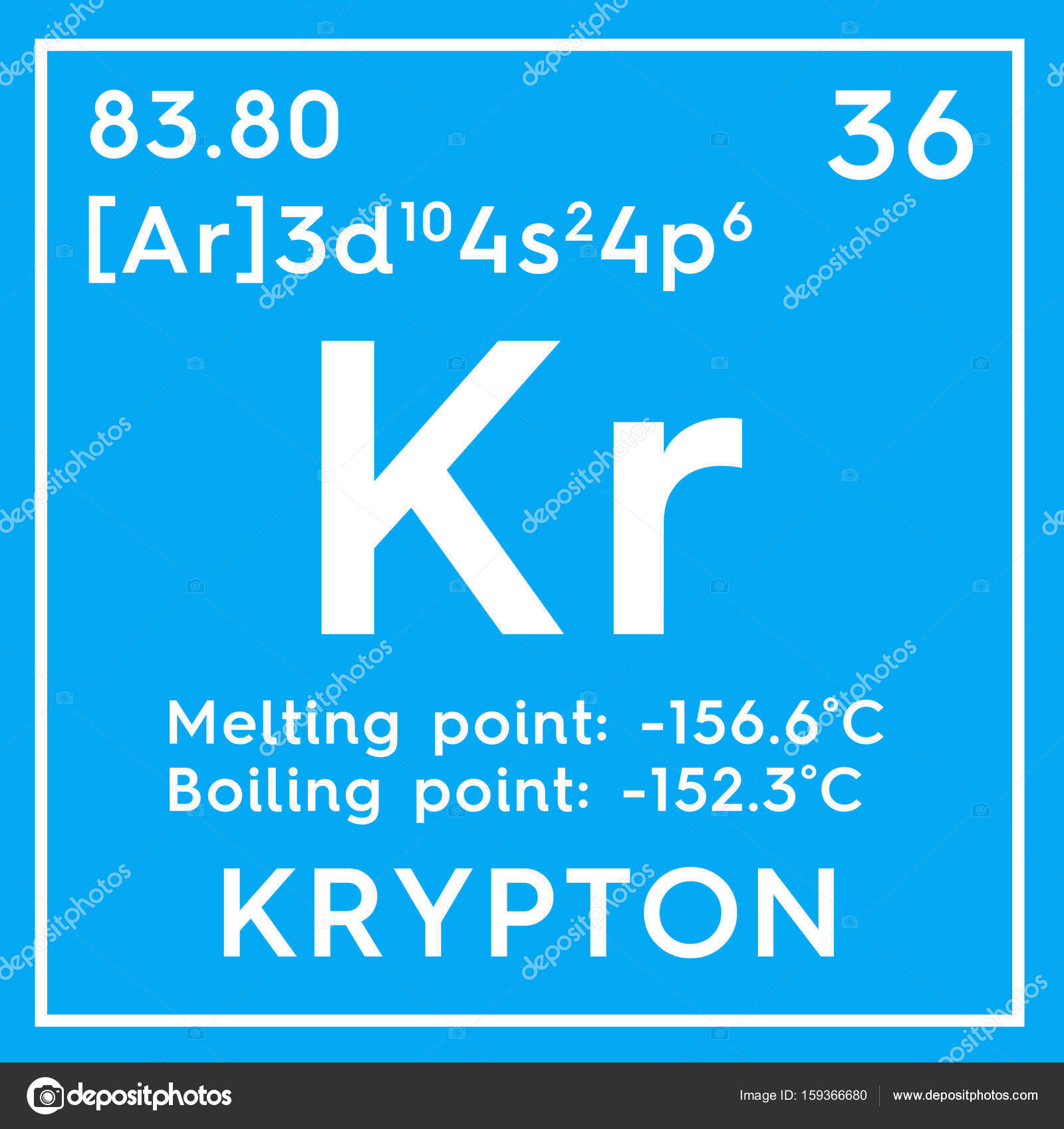 Krypton noble gases chemical element of mendeleevs periodic chemical element of mendeleevs periodic table krypton in square cube creative concept photo by sanches812 gamestrikefo Gallery