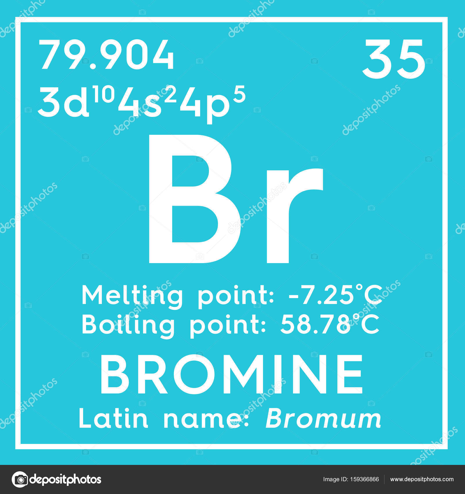 bromine bromum halogens chemical element of mendeleevs periodic table bromine in square cube creative concept photo by sanches812 - Periodic Table Halogens