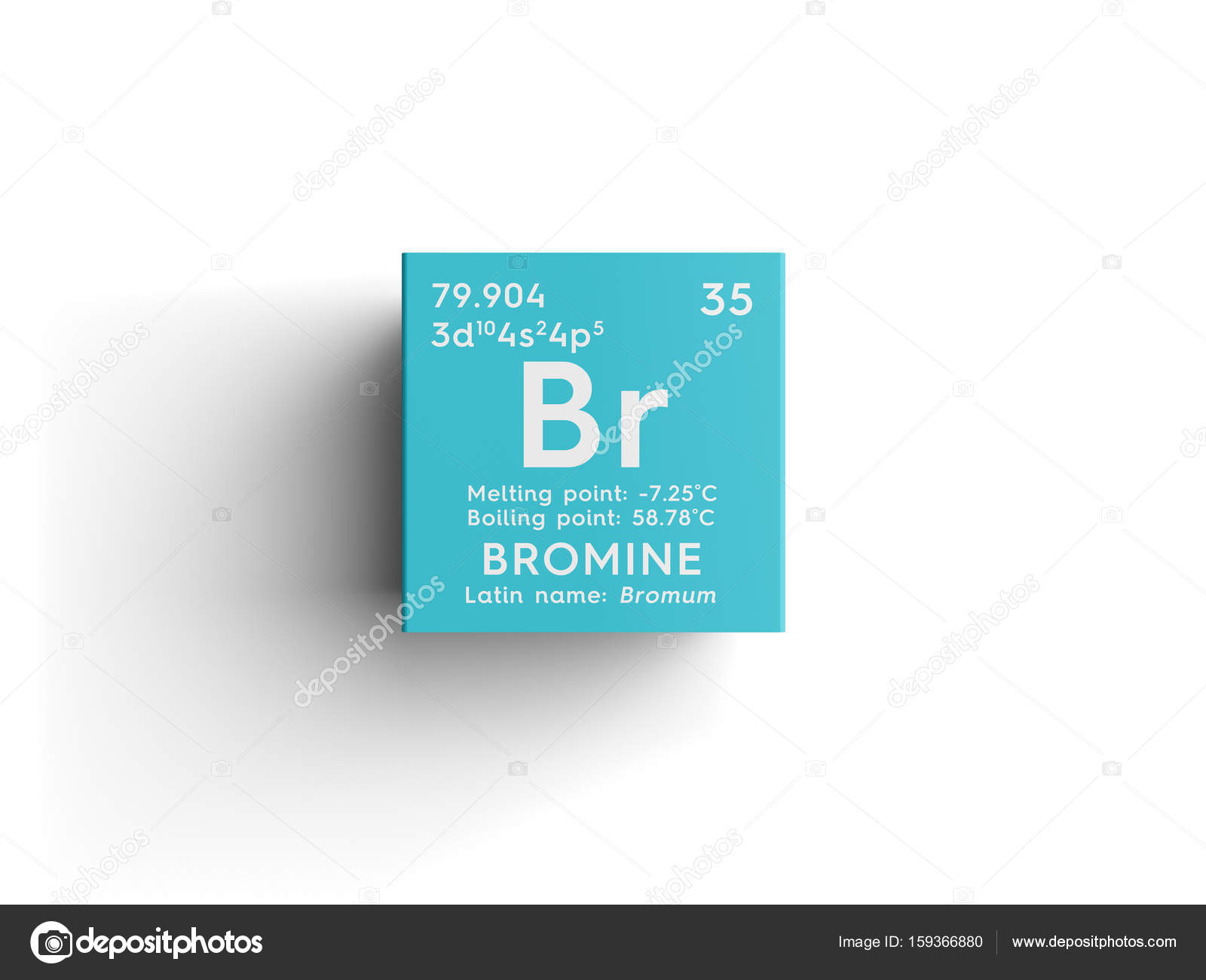 Bromine bromum halogens chemical element of mendeleevs periodic bromine bromum halogens chemical element of mendeleevs periodic table bromine in square cube creative concept photo by sanches812 buycottarizona Choice Image
