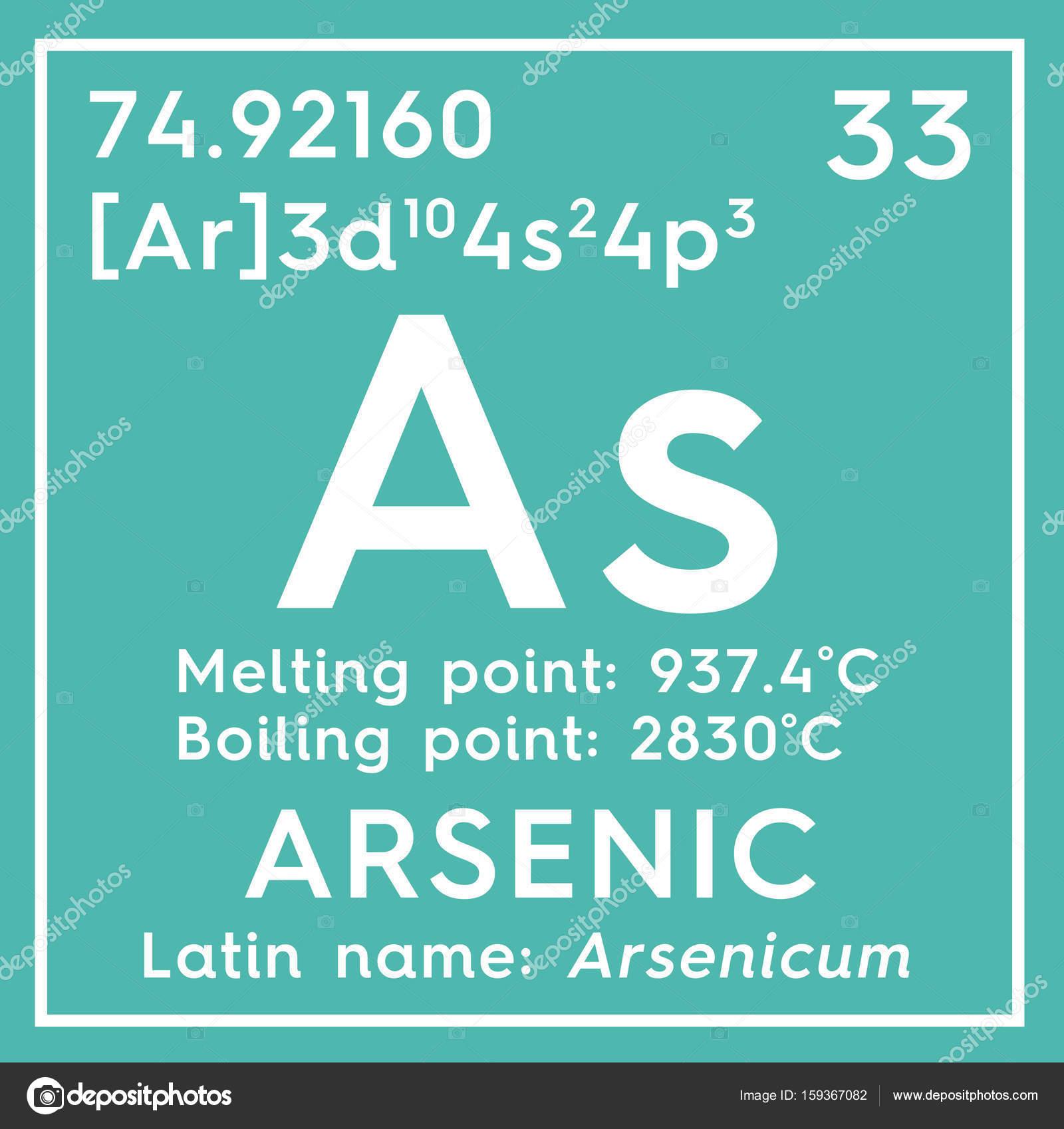 Arsnico arsenicum metaloides elemento qumico de la tabla de metaloides elemento qumico de la tabla de periodica de mendeleiev urtaz Images