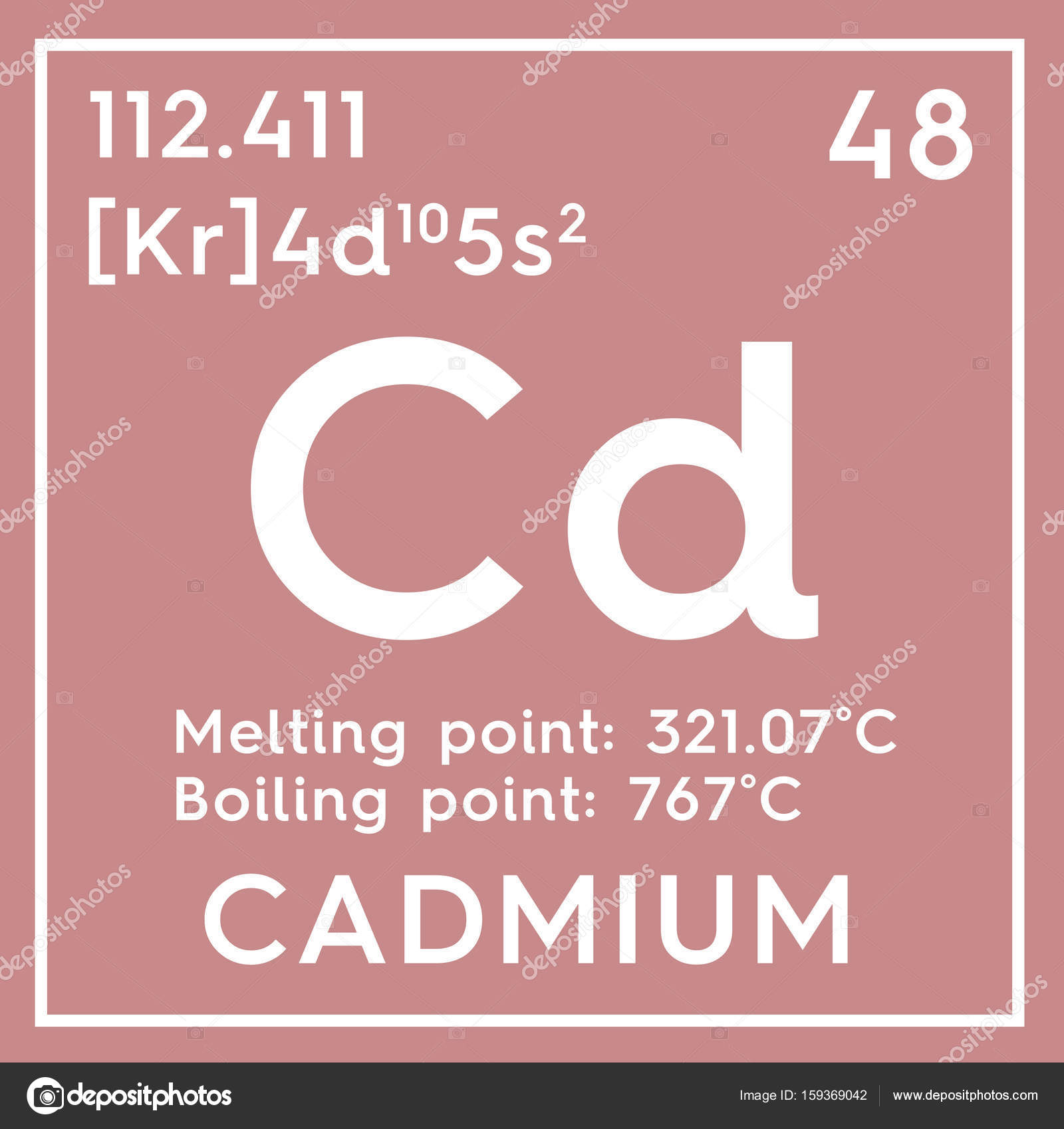 Cadmium transition metals chemical element of mendeleevs chemical element of mendeleevs periodic table cadmium in square cube creative concept photo by sanches812 gamestrikefo Images