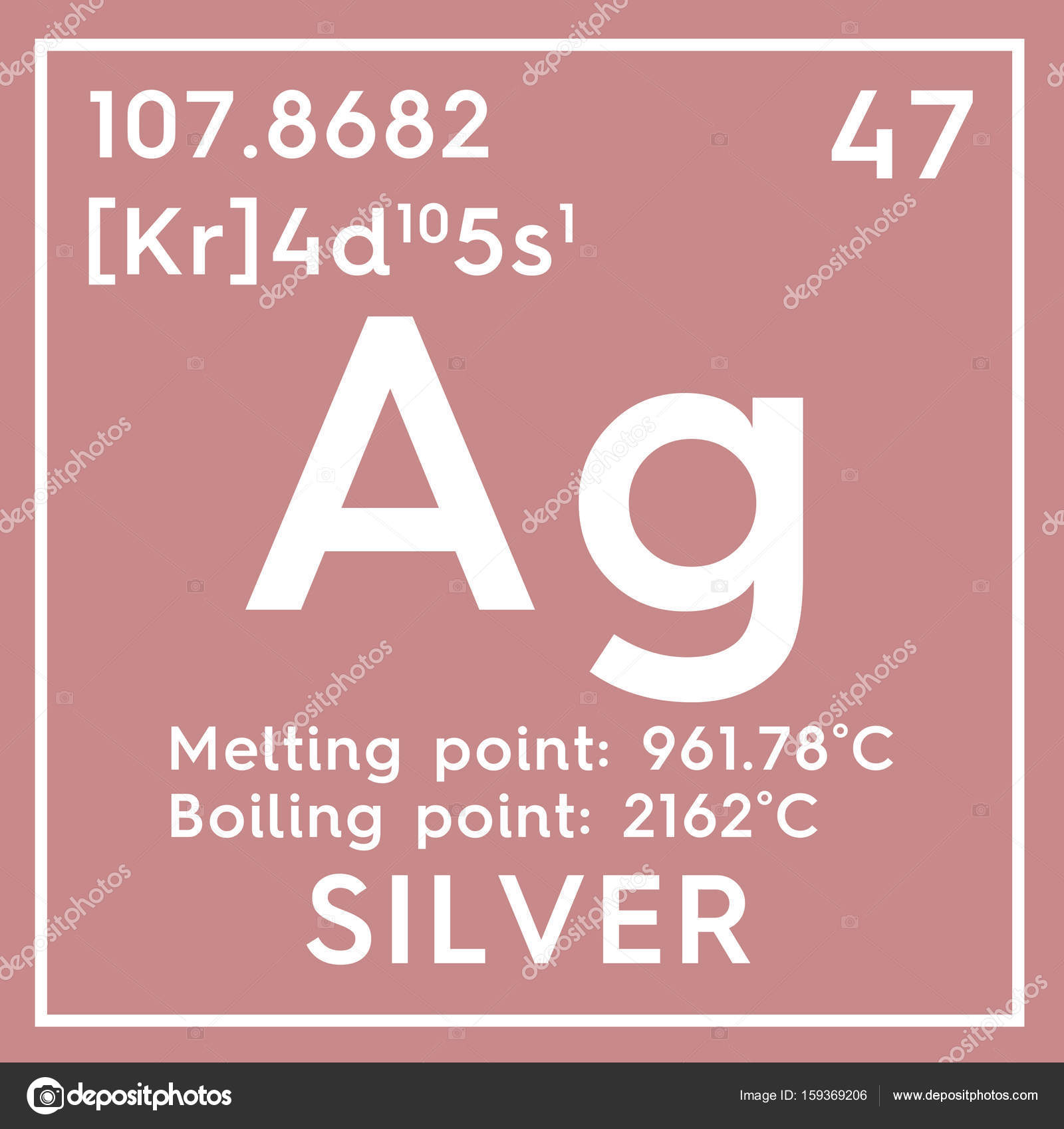Silver transition metals chemical element of mendeleevs chemical element of mendeleevs periodic table silver in square cube creative concept photo by sanches812 gamestrikefo Images