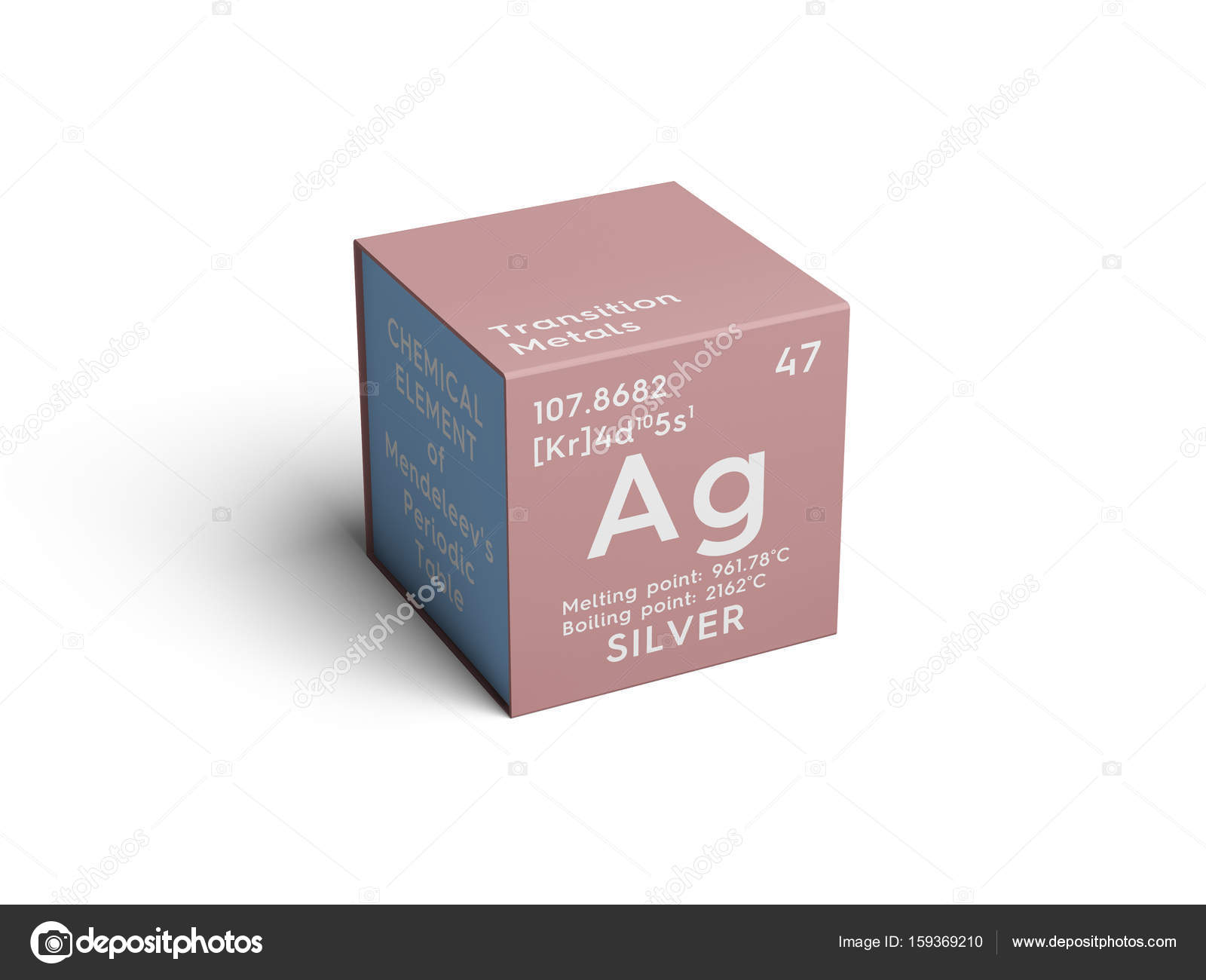 Silver transition metals chemical element of mendeleevs silver transition metals chemical element of mendeleevs periodic table silver in square cube creative concept photo by sanches812 gamestrikefo Image collections