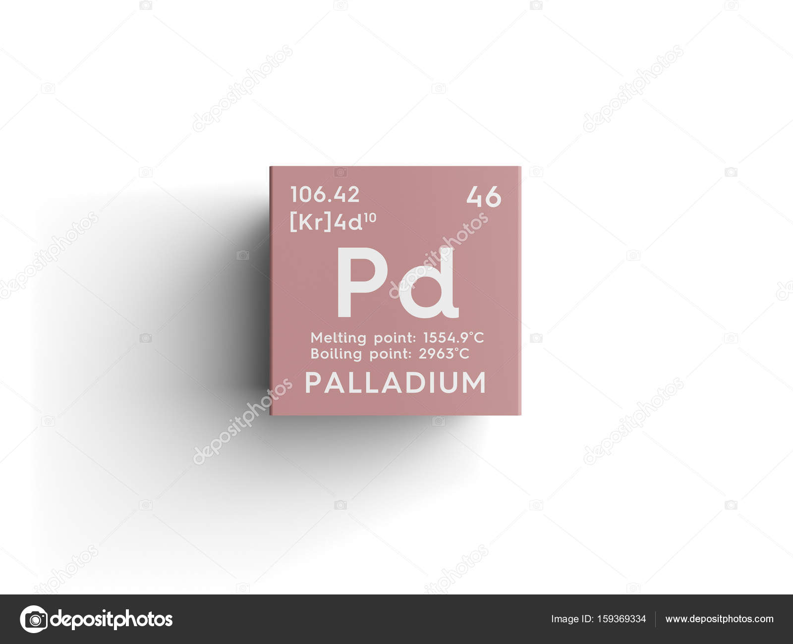 Palladium Transition Metals Chemical Element Of Mendeleevs