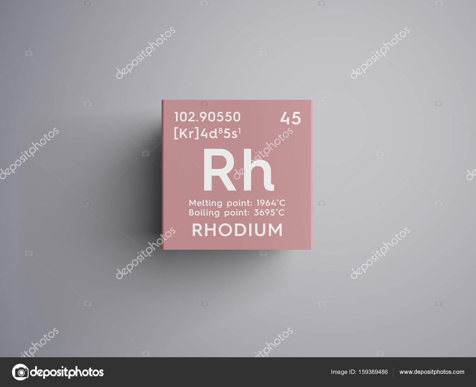 Rodio metales de transicin elemento qumico de la tabla de metales de transicin elemento qumico de la tabla de periodica de mendeleiev urtaz Image collections