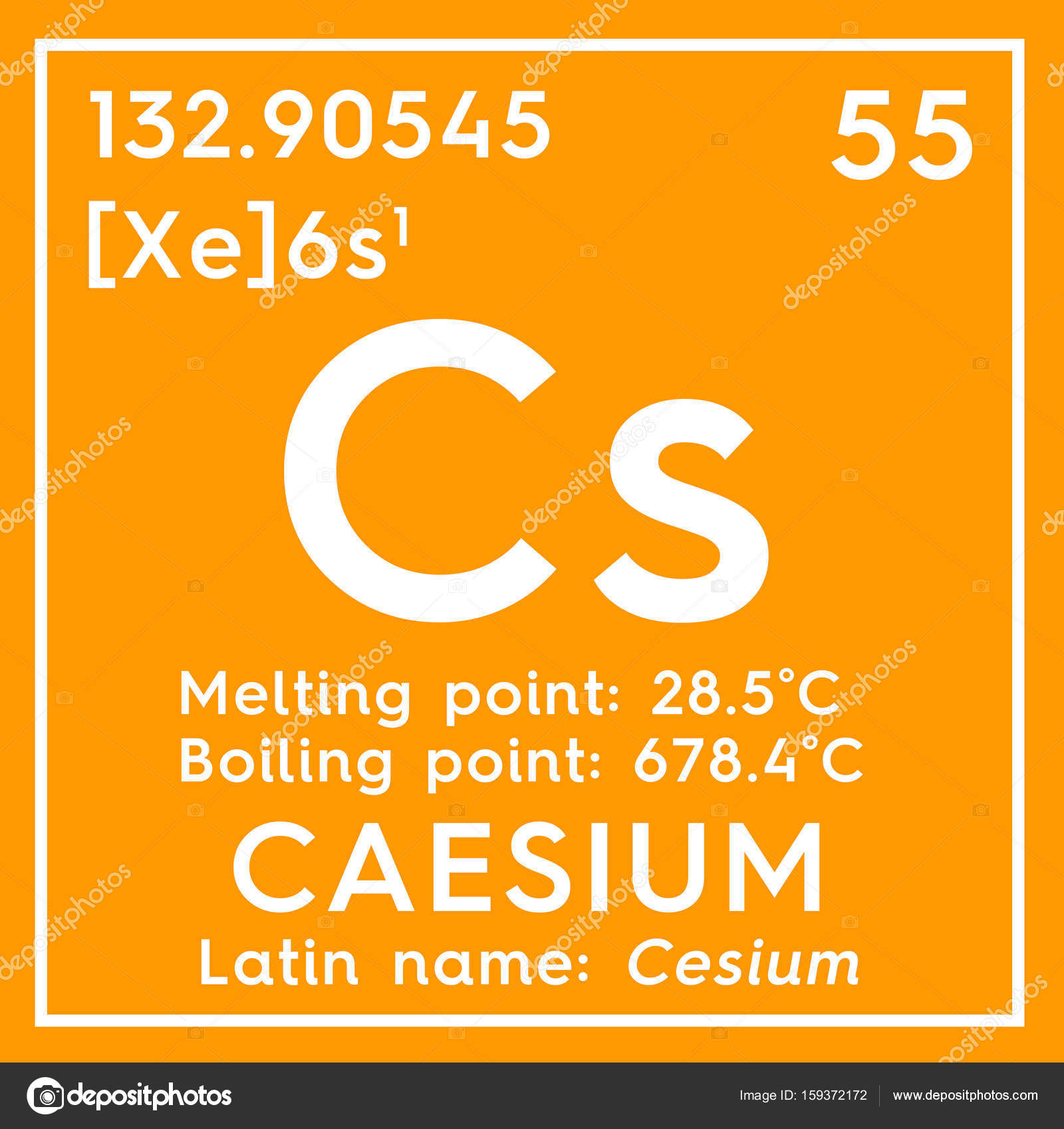 Caesium. Cesium. Alkali Metals. Chemical Element Of