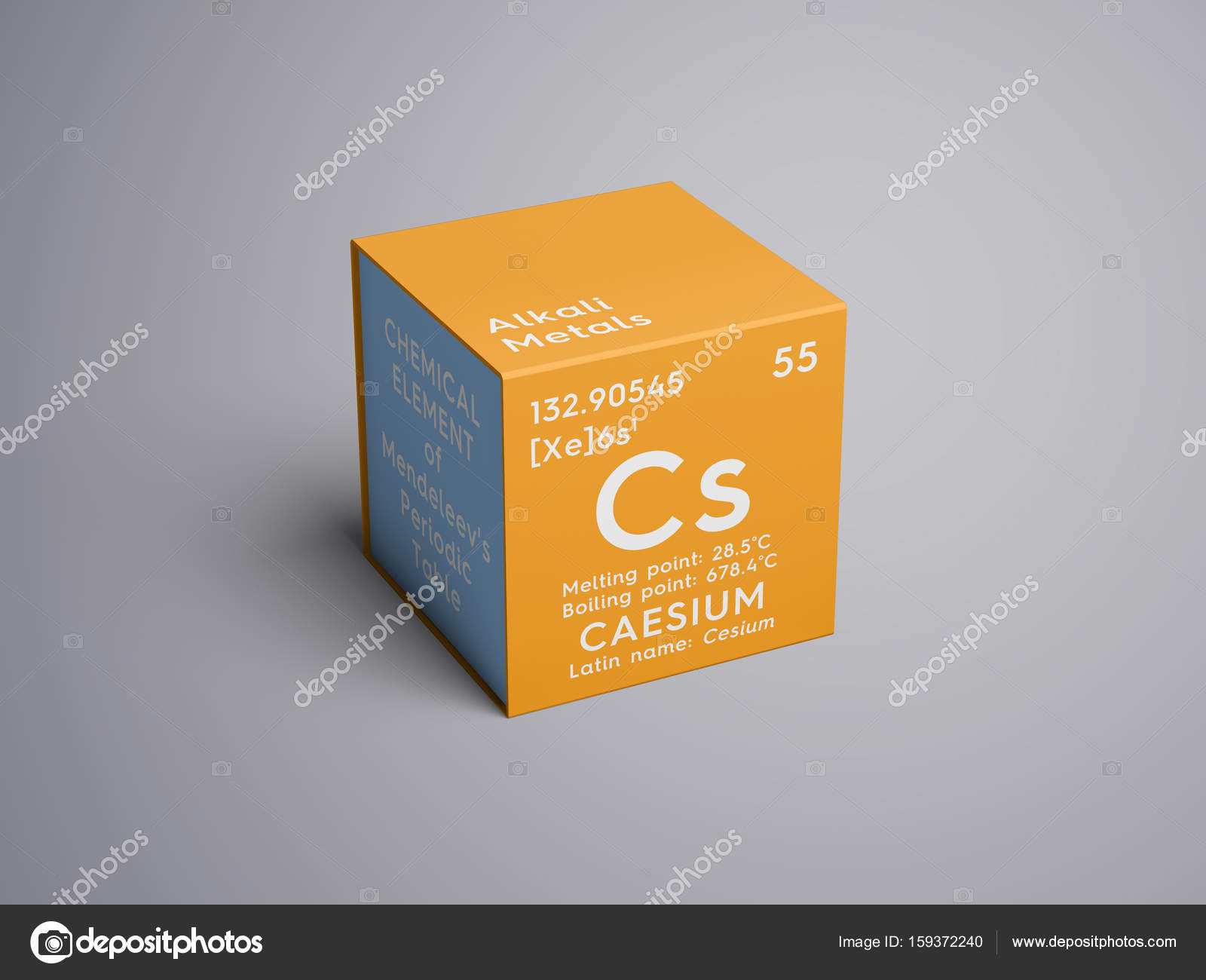 Caesium cesium alkali metals chemical element of mendeleevs caesium cesium alkali metals chemical element of mendeleevs periodic table caesium in square cube creative concept photo by sanches812 gamestrikefo Gallery