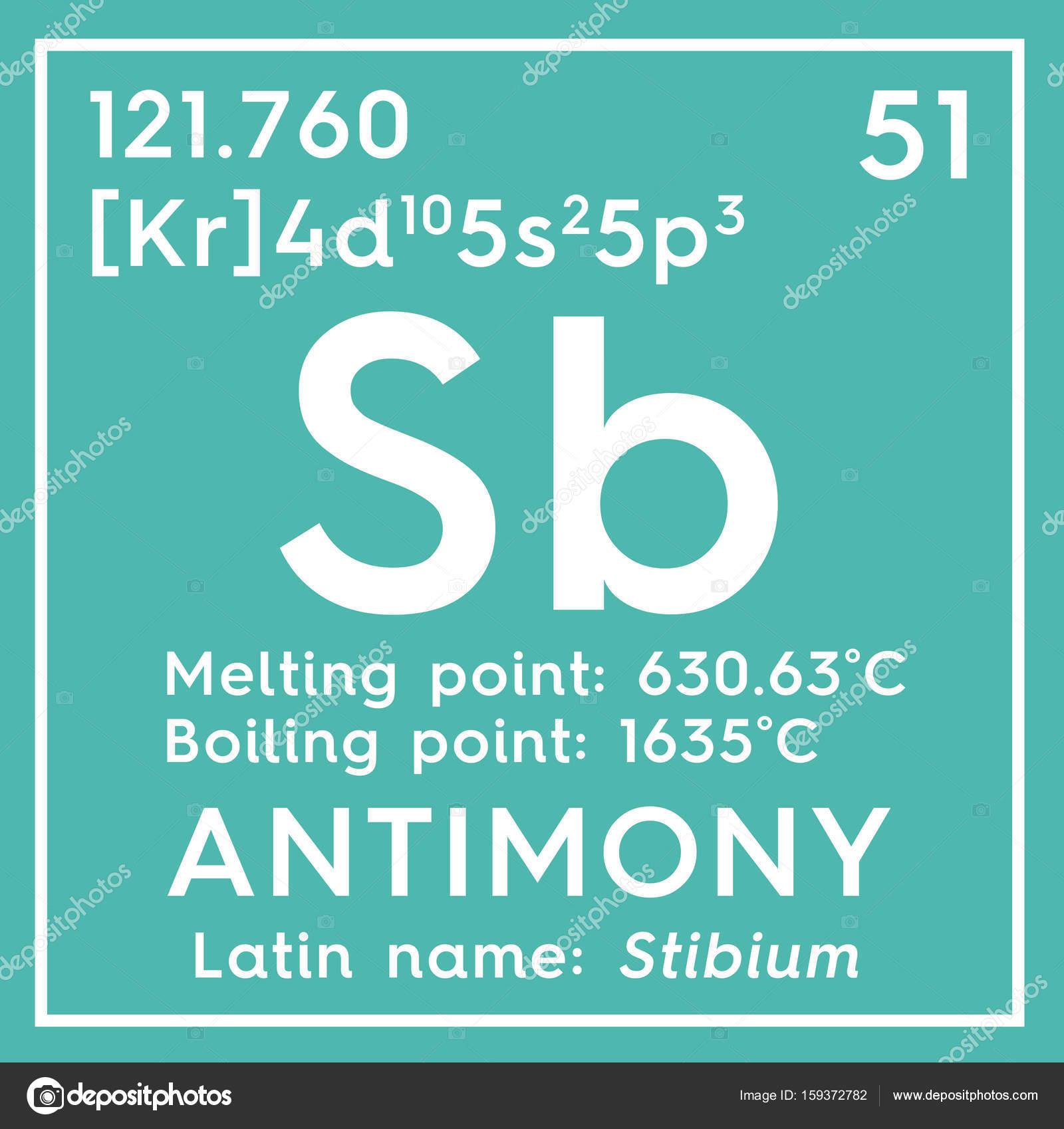 Antimonio stibium metaloides elemento qumico de la tabla de metaloides elemento qumico de la tabla de periodica de mendeleiev urtaz Images