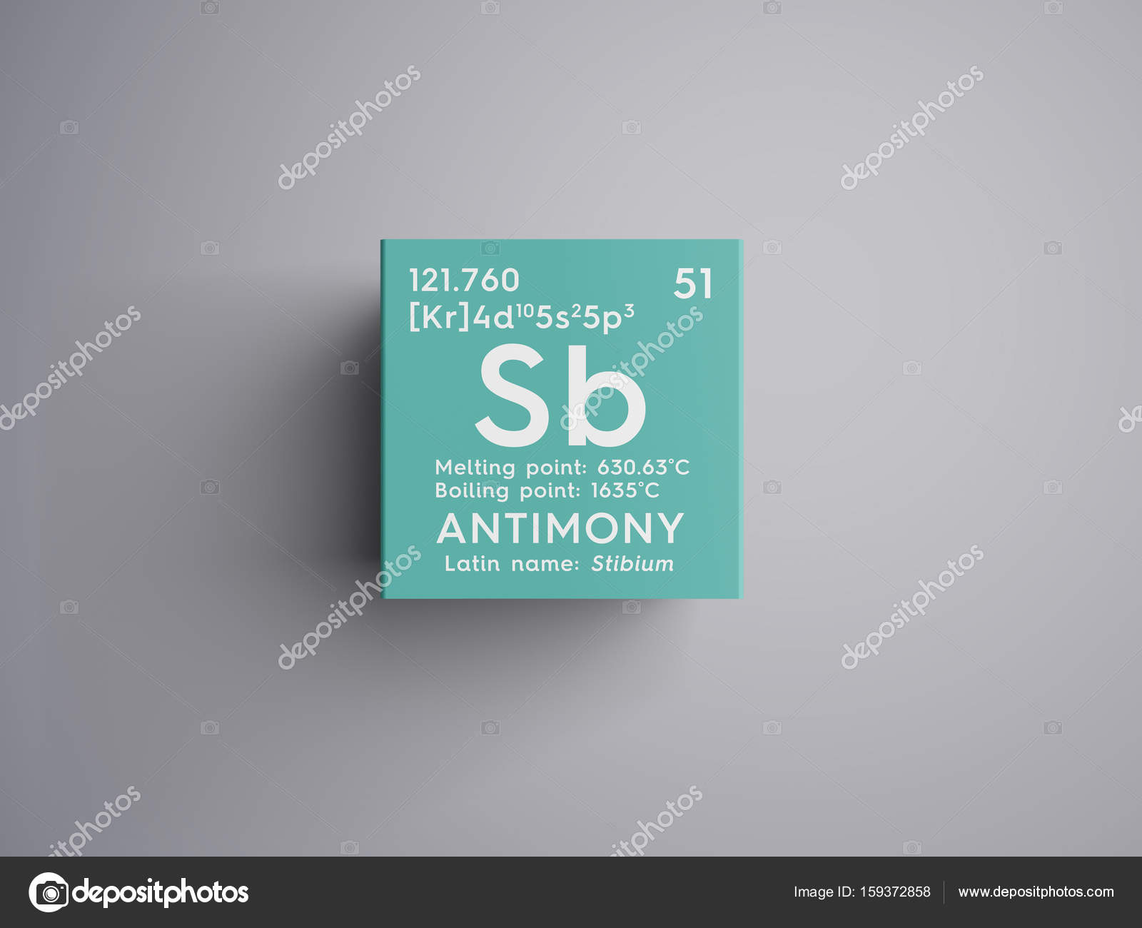 Antimony stibium metalloids chemical element of mendeleevs antimony stibium metalloids chemical element of mendeleevs periodic table antimony in square cube creative concept photo by sanches812 biocorpaavc Images