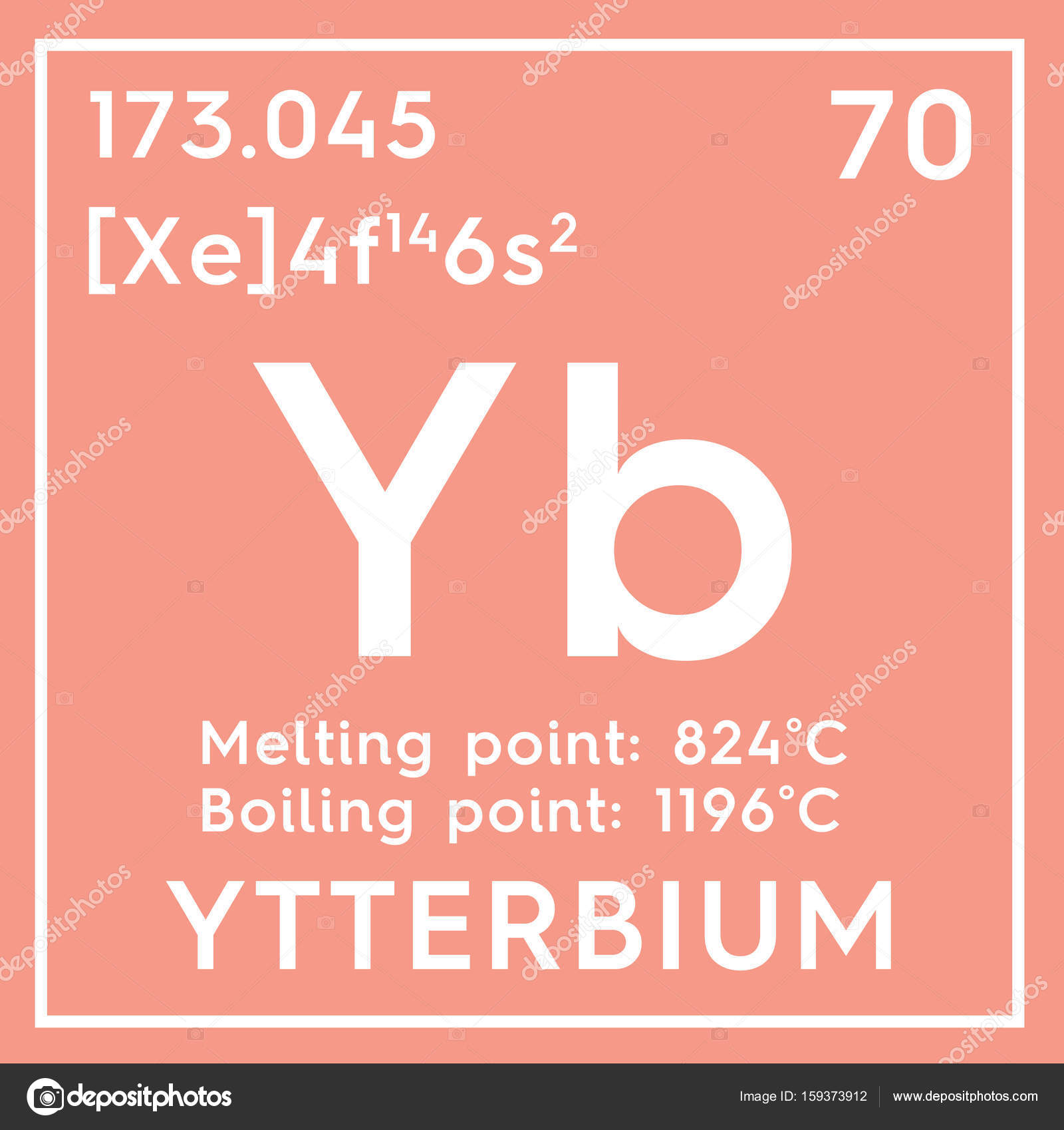 Ytterbium Lanthanoids Chemical Element Of Mendeleevs Periodic