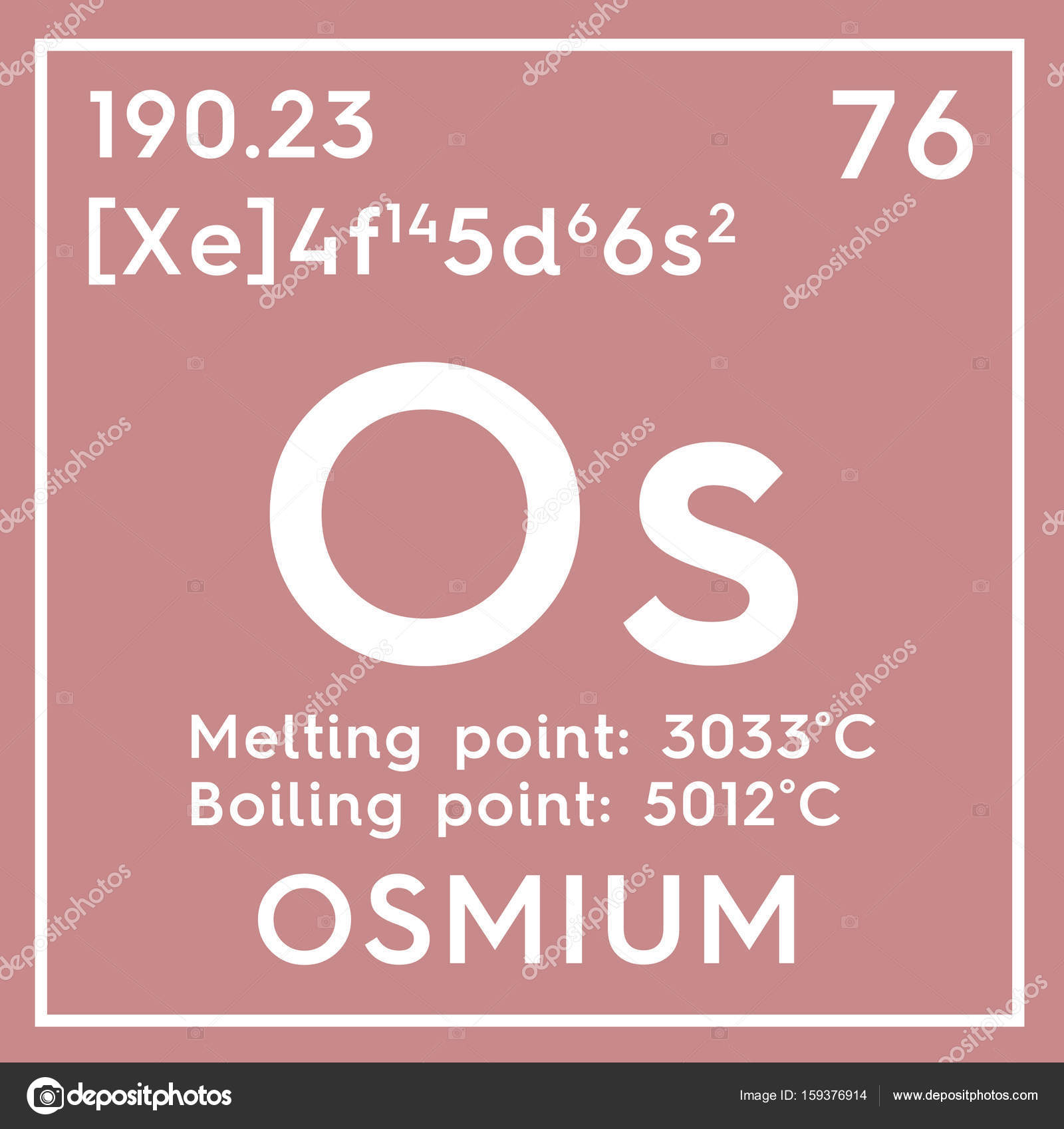 Osmium transition metals chemical element of mendeleevs periodic osmium transition metals chemical element of mendeleevs periodic table osmium in square cube creative concept photo by sanches812 urtaz Choice Image