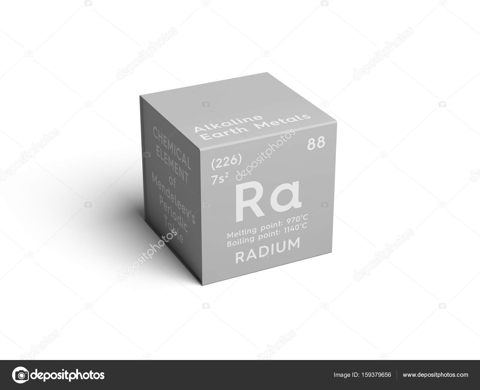 Radium alkaline earth metals chemical element of mendeleevs radium alkaline earth metals chemical element of mendeleevs periodic table radium in square cube creative concept photo by sanches812 gamestrikefo Images