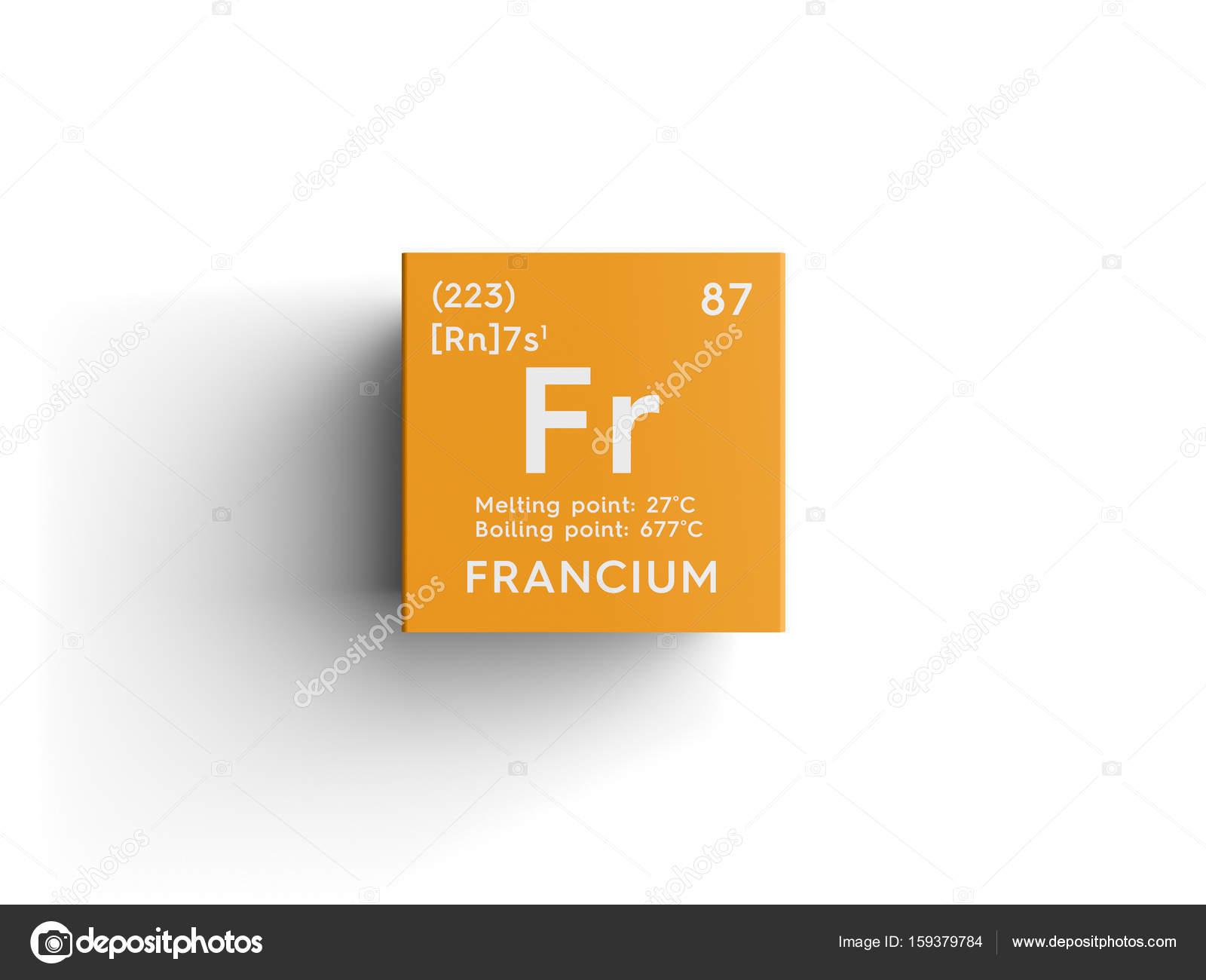Francio metales del lcali elemento qumico de la tabla de francio metales del lcali elemento qumico de la tabla de periodica de mendeleiev urtaz Choice Image