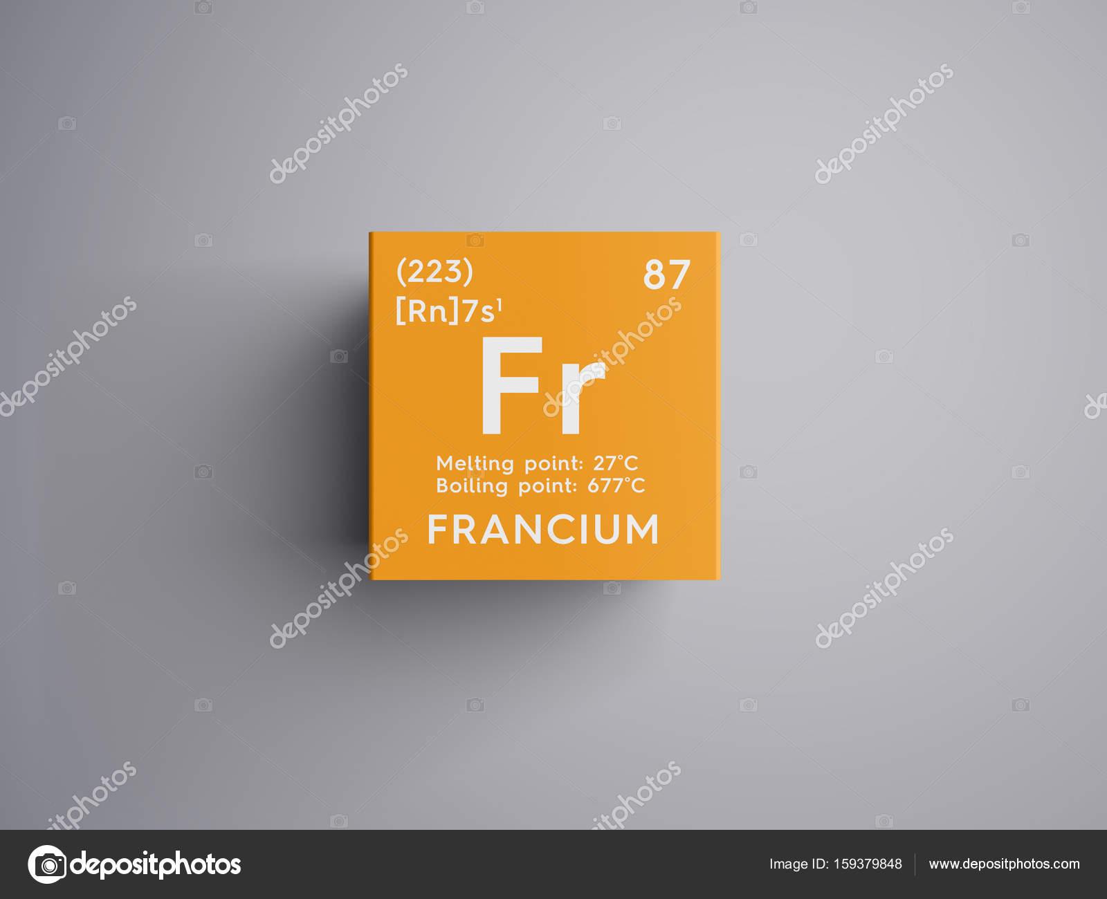 Francio metales del lcali elemento qumico de la tabla de francio metales del lcali elemento qumico de la tabla de periodica de mendeleiev urtaz Image collections