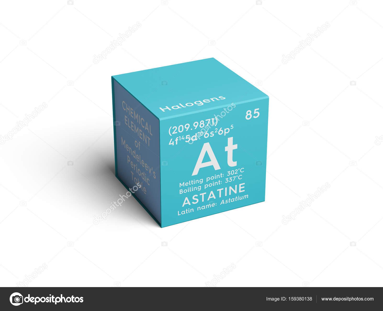 Astatine astatium halgenos elemento qumico de la tabla de halgenos elemento qumico de la tabla de periodica de mendeleiev urtaz Choice Image
