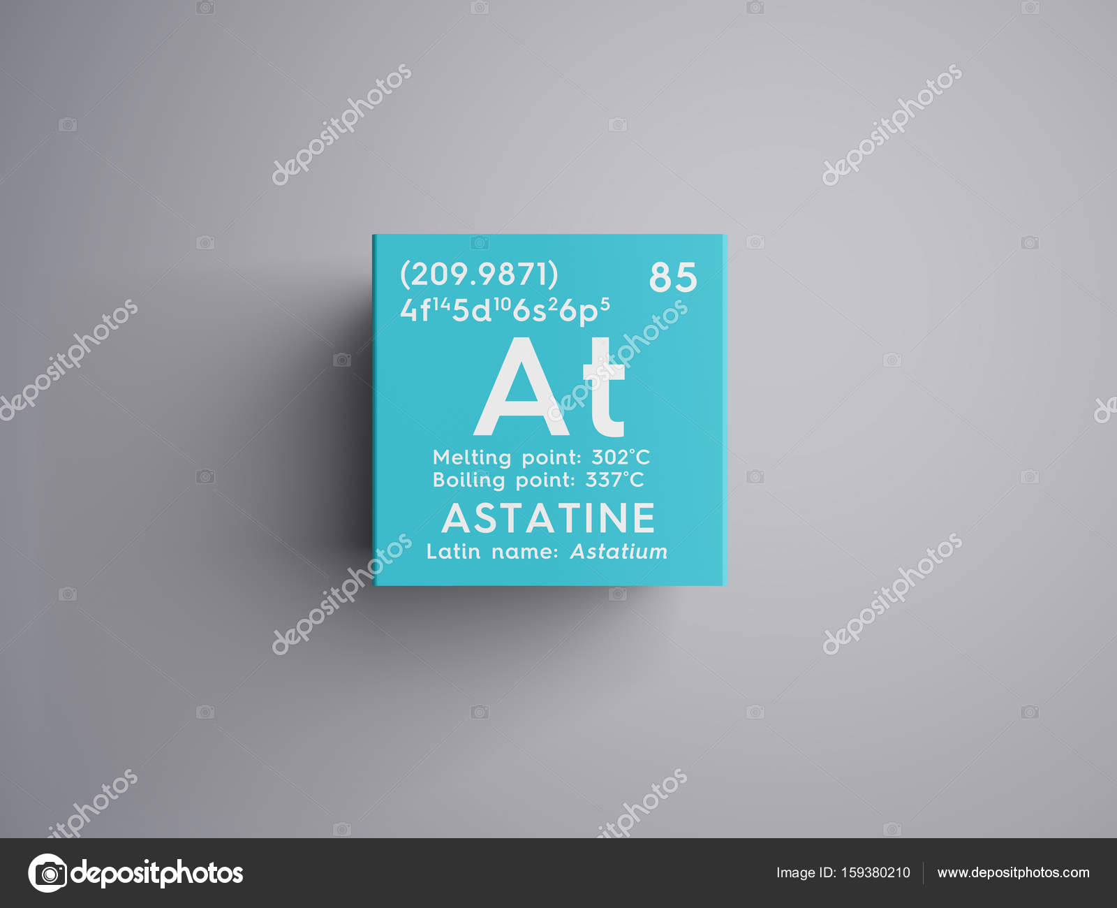 Astatine astatium halogens chemical element of mendeleevs astatine astatium halogens chemical element of mendeleevs periodic table astatine in square cube creative concept photo by sanches812 urtaz Gallery