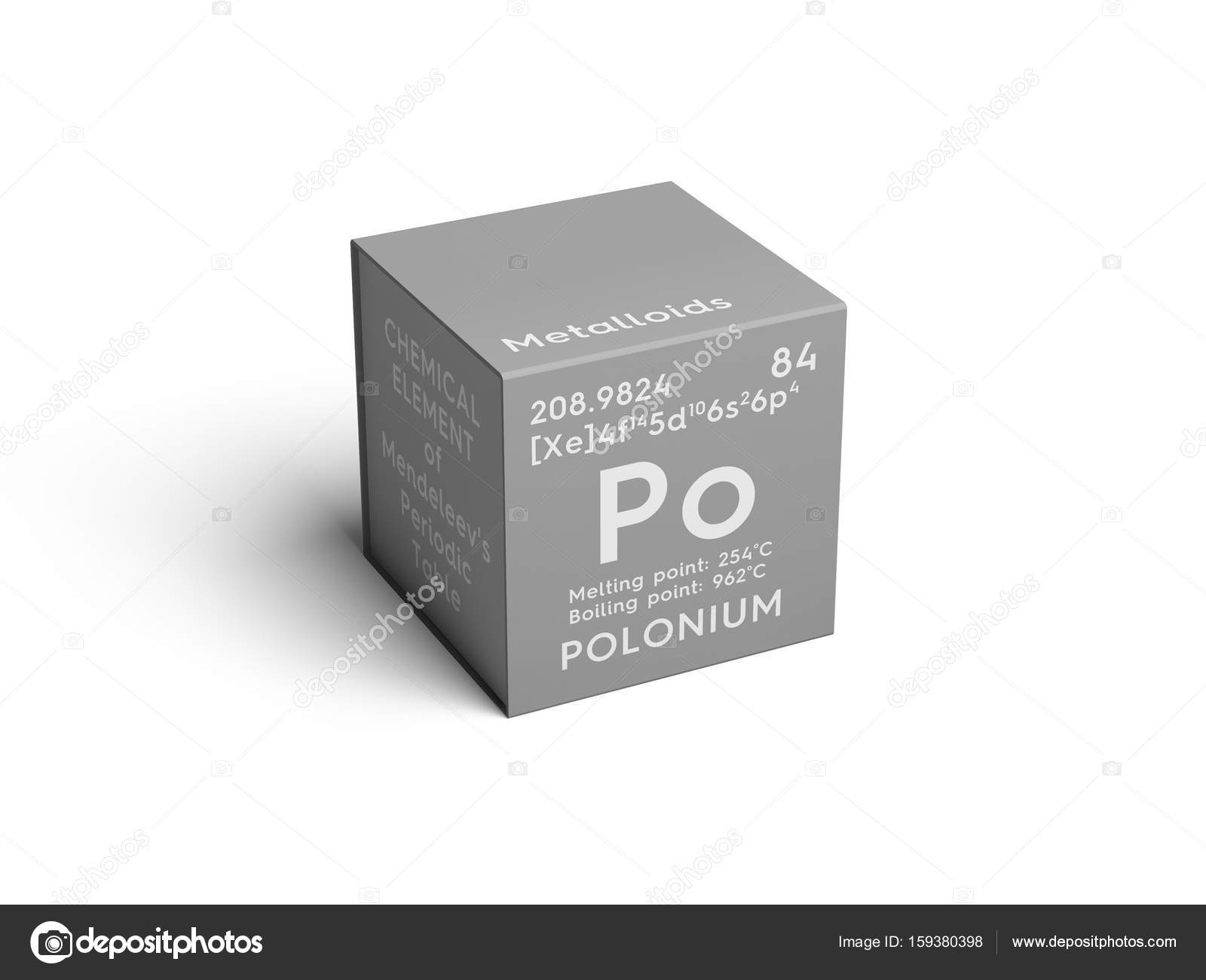 Polonium metalloids chemical element of mendeleevs periodic polonium metalloids chemical element of mendeleevs periodic table polonium in square cube creative concept photo by sanches812 gamestrikefo Choice Image