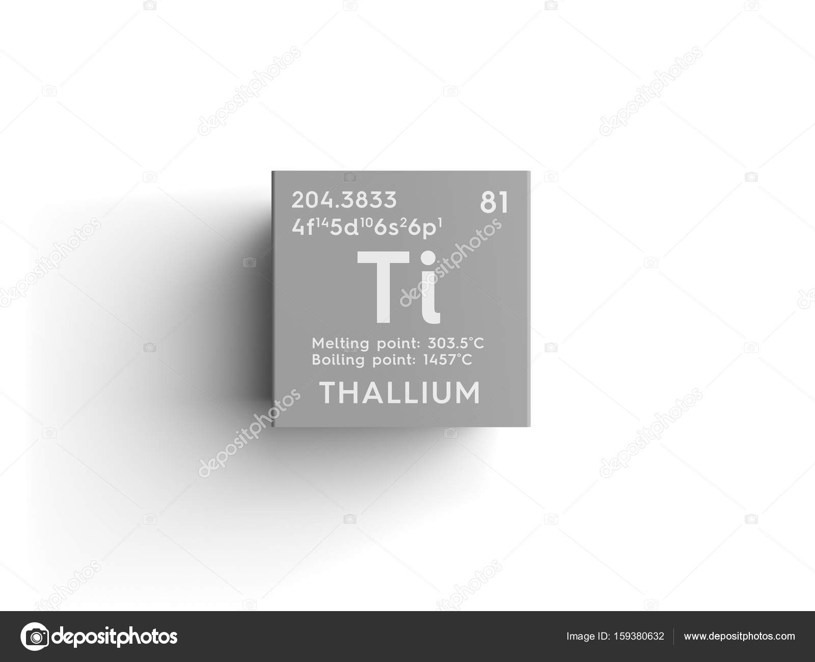 Thallium post transition metals chemical element of mendeleevs thallium post transition metals chemical element of mendeleevs periodic table thallium in square cube creative concept photo by sanches812 urtaz Choice Image