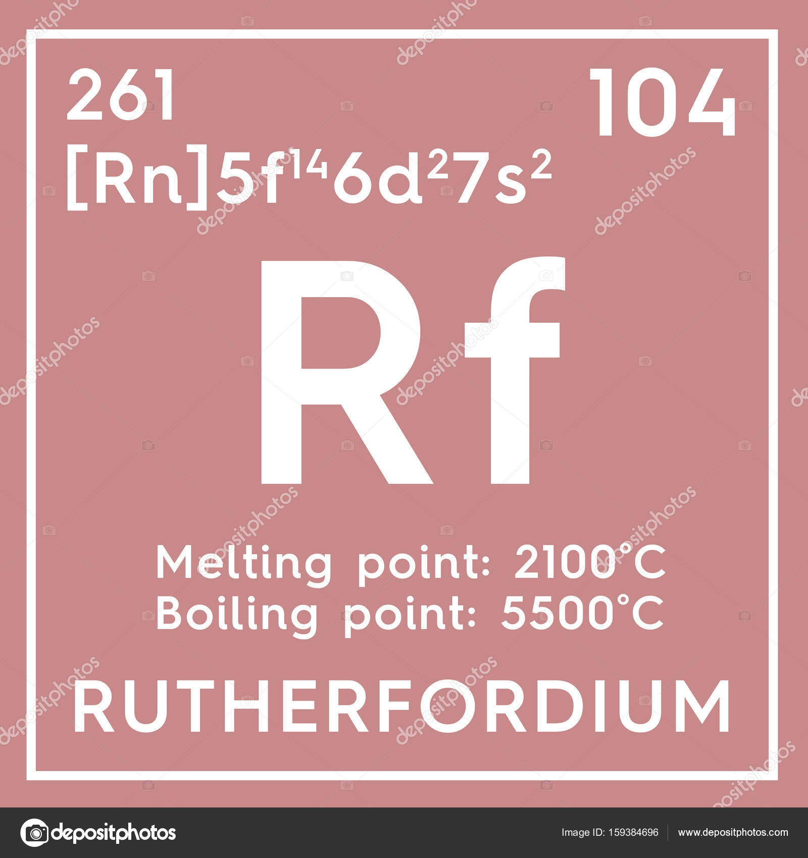 Rutherfordium transition metals chemical element of mendeleevs chemical element of mendeleevs periodic table rutherfordium in square cube creative concept photo by sanches812 gamestrikefo Images