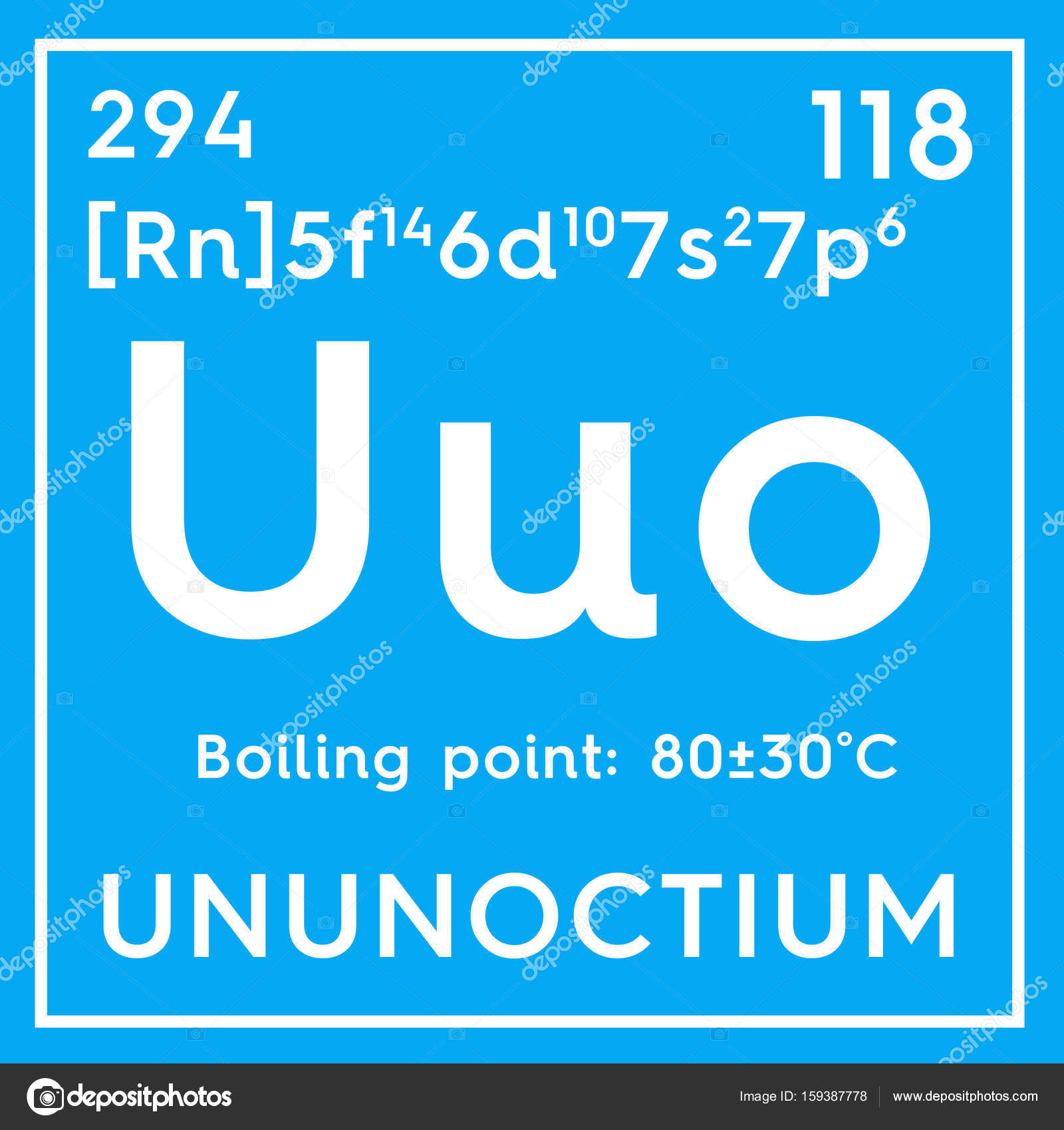 Ununoctium noble gases chemical element of mendeleevs periodic chemical element of mendeleevs periodic table stock photo urtaz Image collections