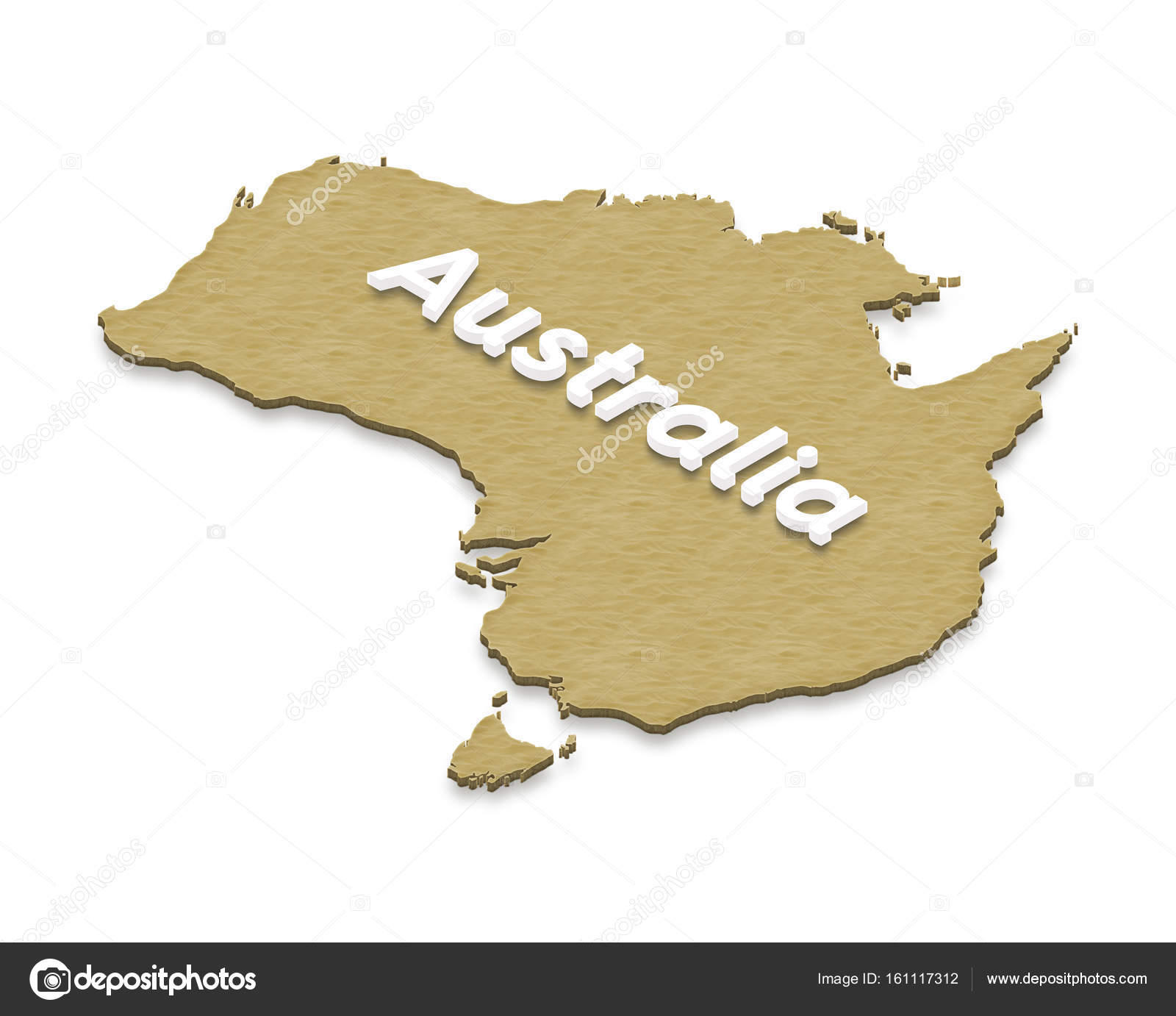 Map of australia 3d isometric illustration stock photo illustration of a sand ground map of australia on isolated background left 3d isometric projection with the name of continent photo by sanches812 gumiabroncs Gallery