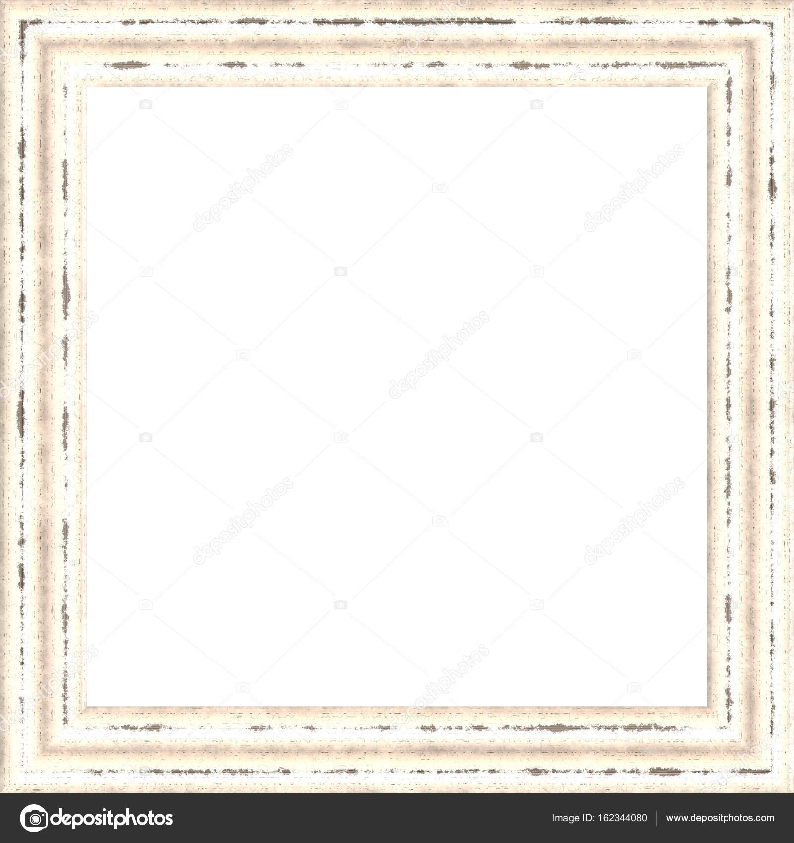 Weiße verwitterte quadratische Holz Bilderrahmen Gemälde Bild ...