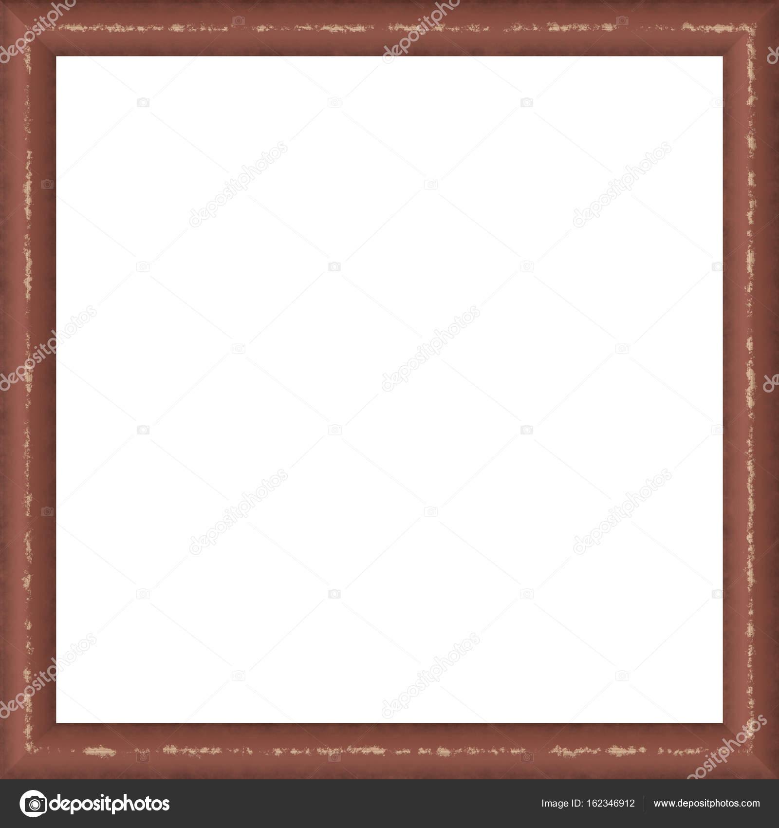 Braun verwitterte quadratische Holz Bilderrahmen Gemälde Bild ...