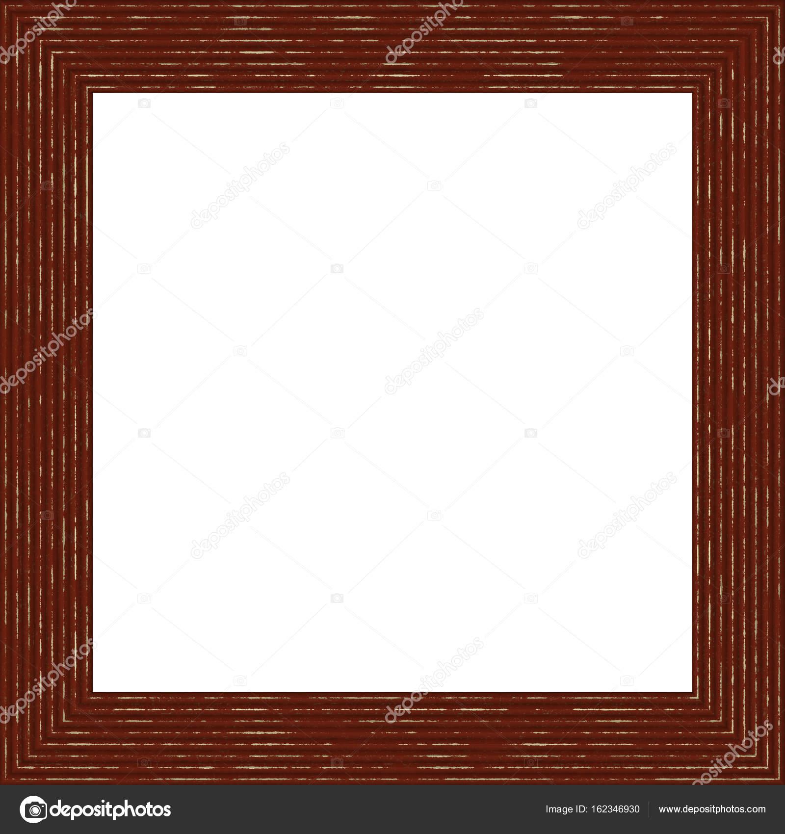 Dunkles Braun verwitterte quadratische Holz Bilderrahmen Gemälde ...