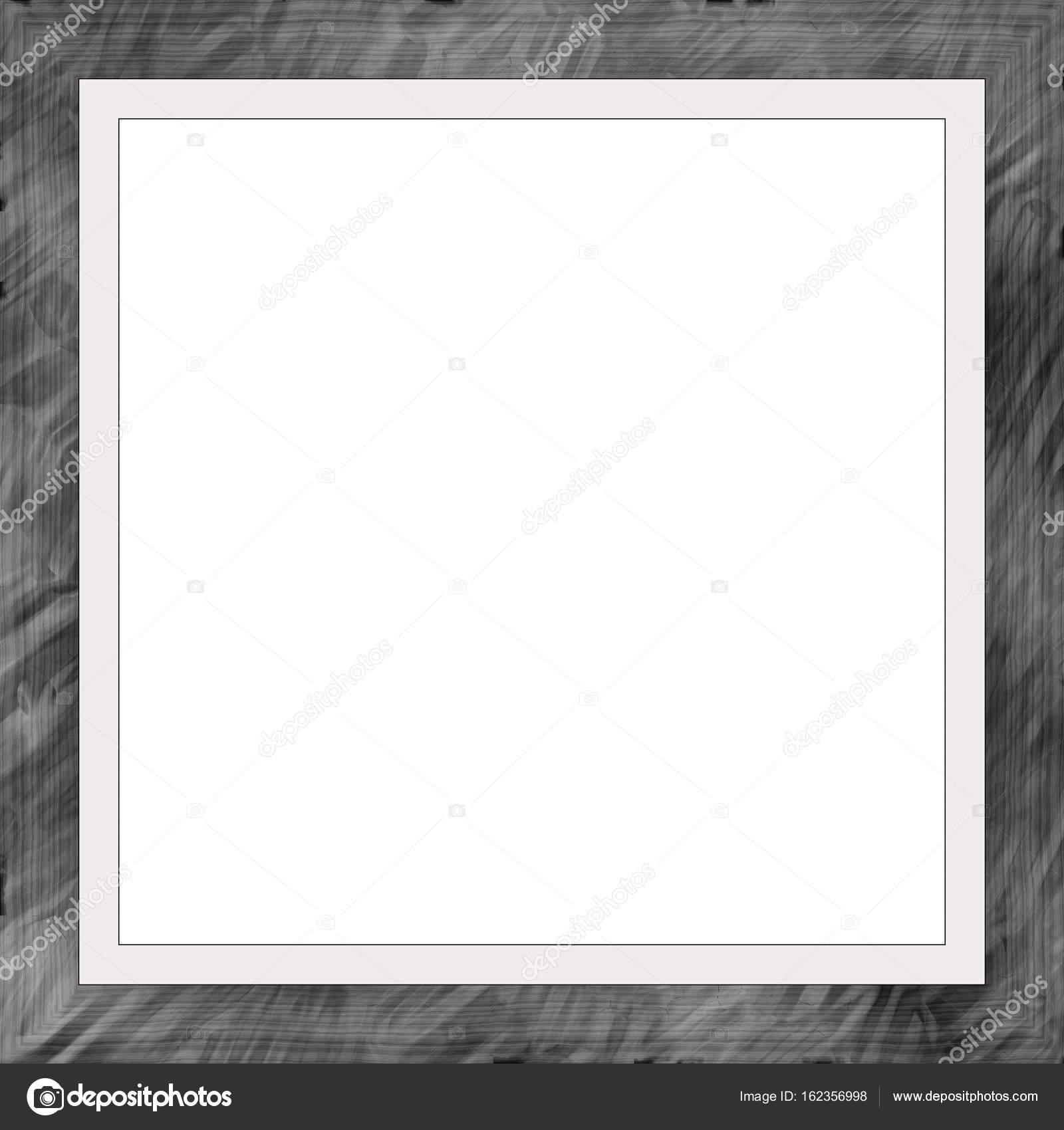 Schwarz verwitterte quadratische Holz Bilderrahmen Gemälde Bild ...