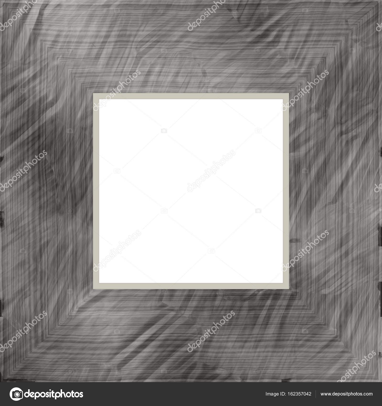 Fett grau verwittert quadratische Holz Bilderrahmen Gemälde Bild ...