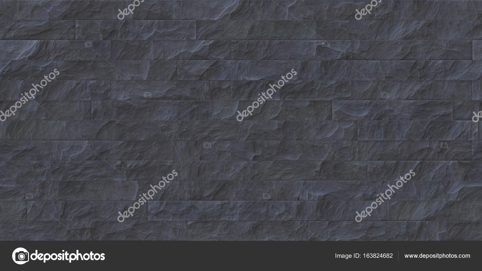Slate Gray Seamless Stone Cladding Texture Stock Photo